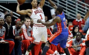 Rose Scores 22 As Bulls Beat Pistons 96 81