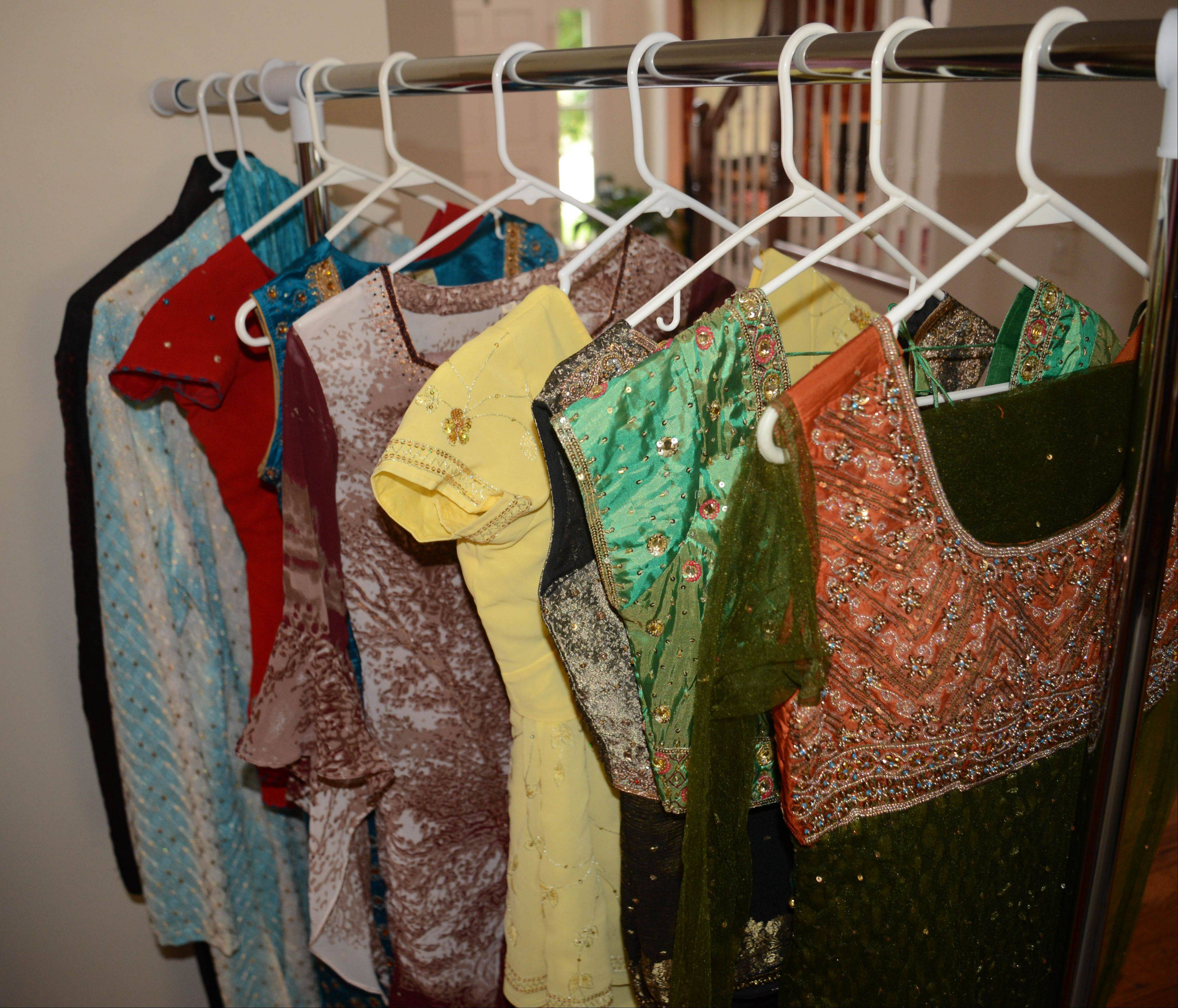Didi's Wardrobe, an online business run by Westmont mom Dina Patel, sells used Indian clothes online. These are some of the shirts she sells.