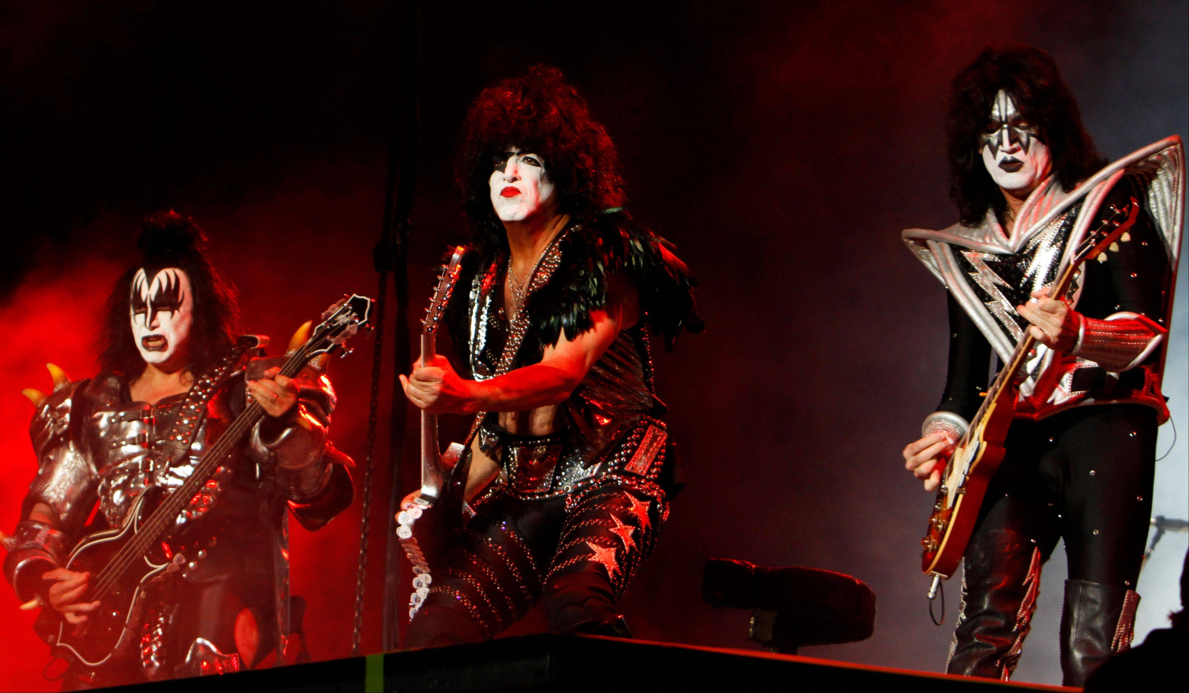 Kiss -- Gene Simmons, left Paul Stanley and Tommy Thayer -- have been nominated again for the Rock and Roll Hall of Fame.