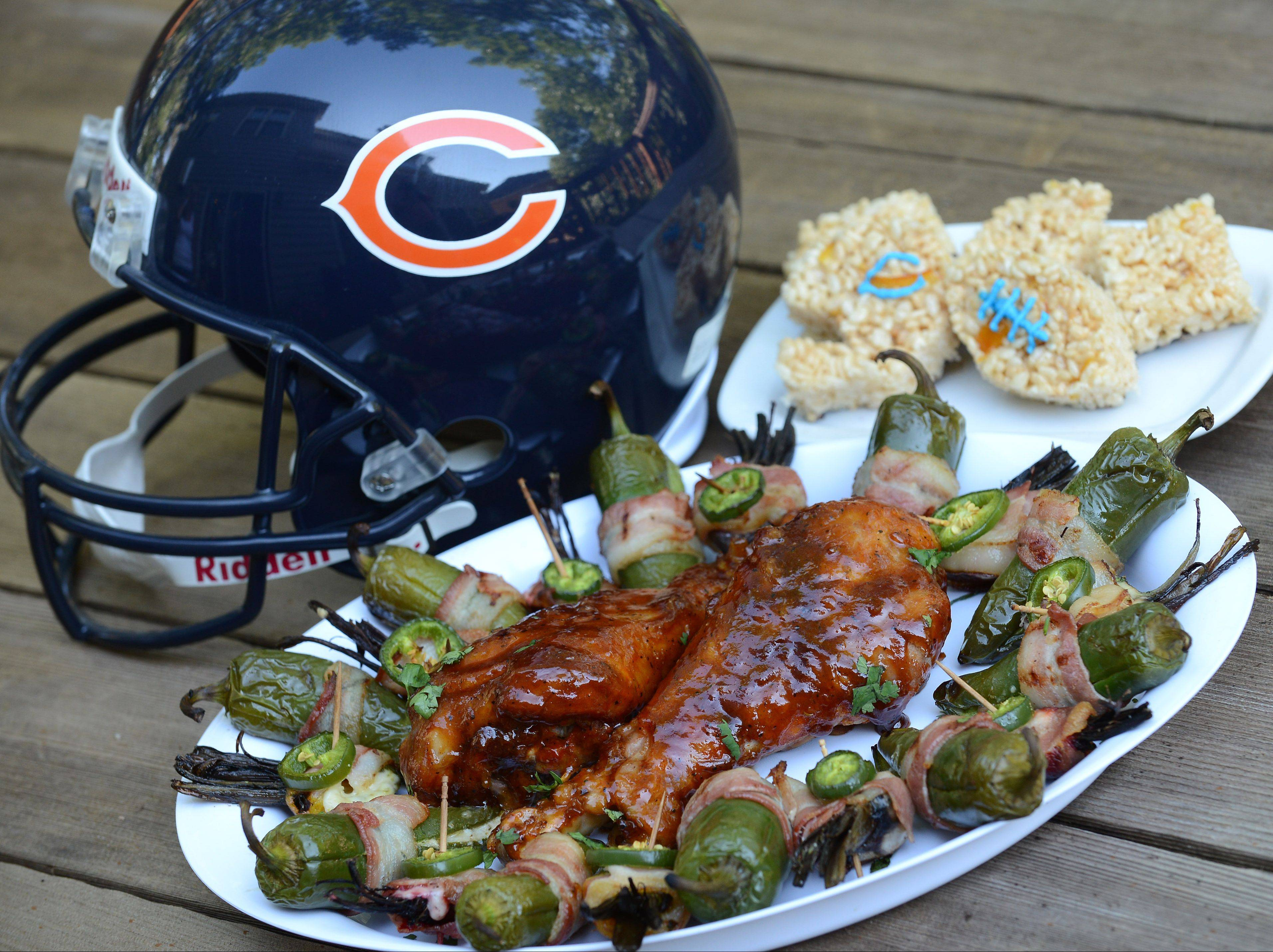 Jeff Zilch of Fox River Grove was tasked with making a tailgate meal using turkey legs, beets, havarti cheese and orange marmalade.