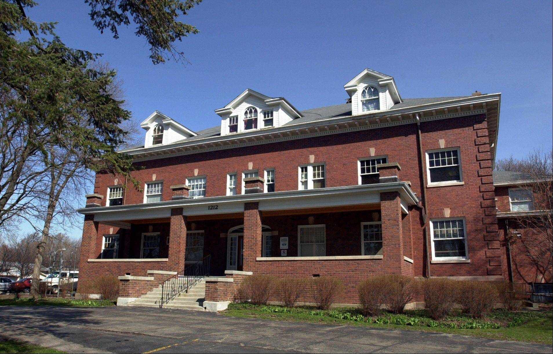 The original Larkin Center building in Elgin opened in 1896.