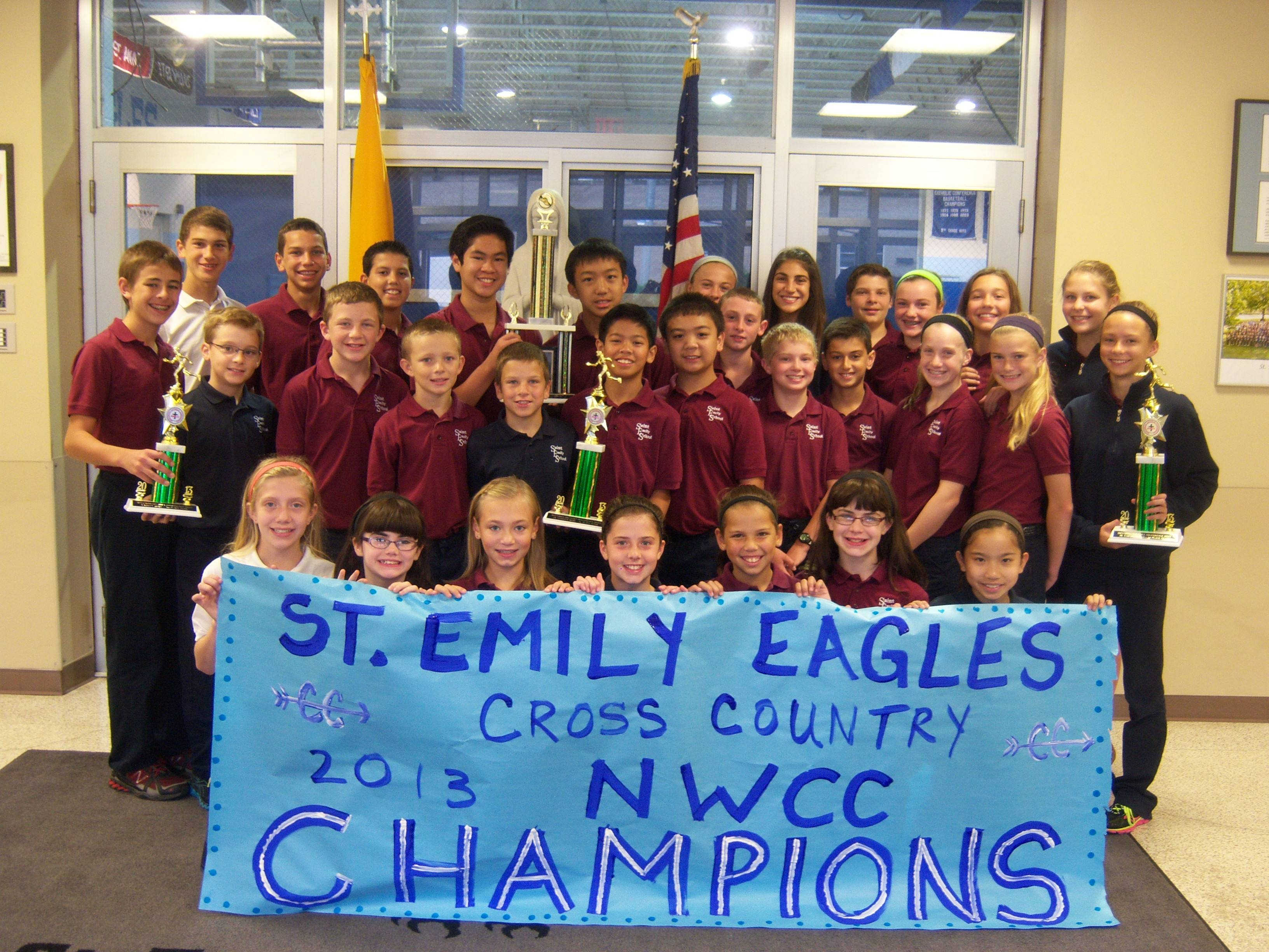 St. Emily Cross Country Team Celebrates Northwest Catholic Conference Championship