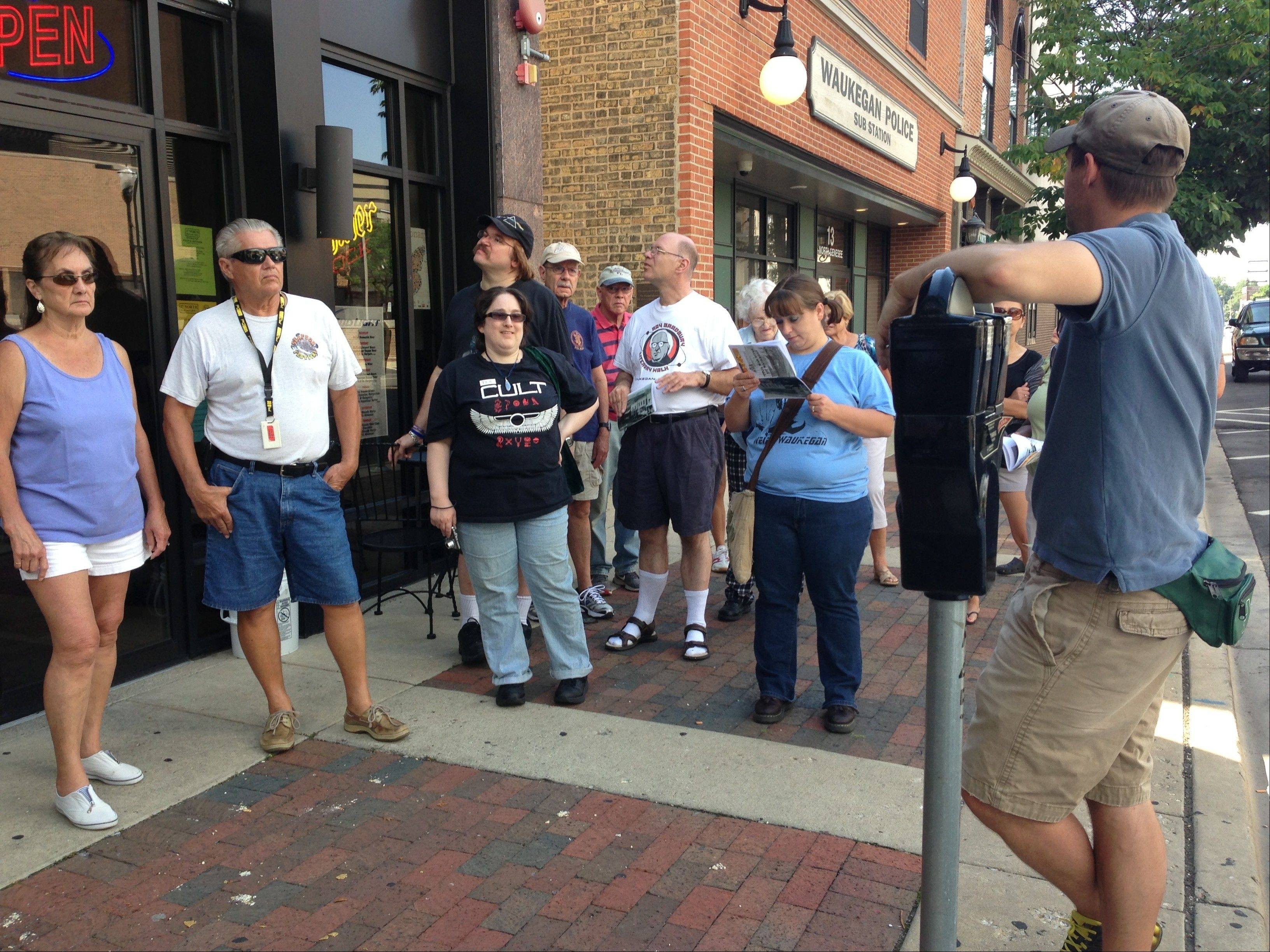 "Attendees take a guided walking tour of Waukegan, seeing locations that influenced author Ray Bradbury and appear in the ""Green Town"" of his stories. This year's tours are scheduled for Saturdays, Oct. 19 and 26."