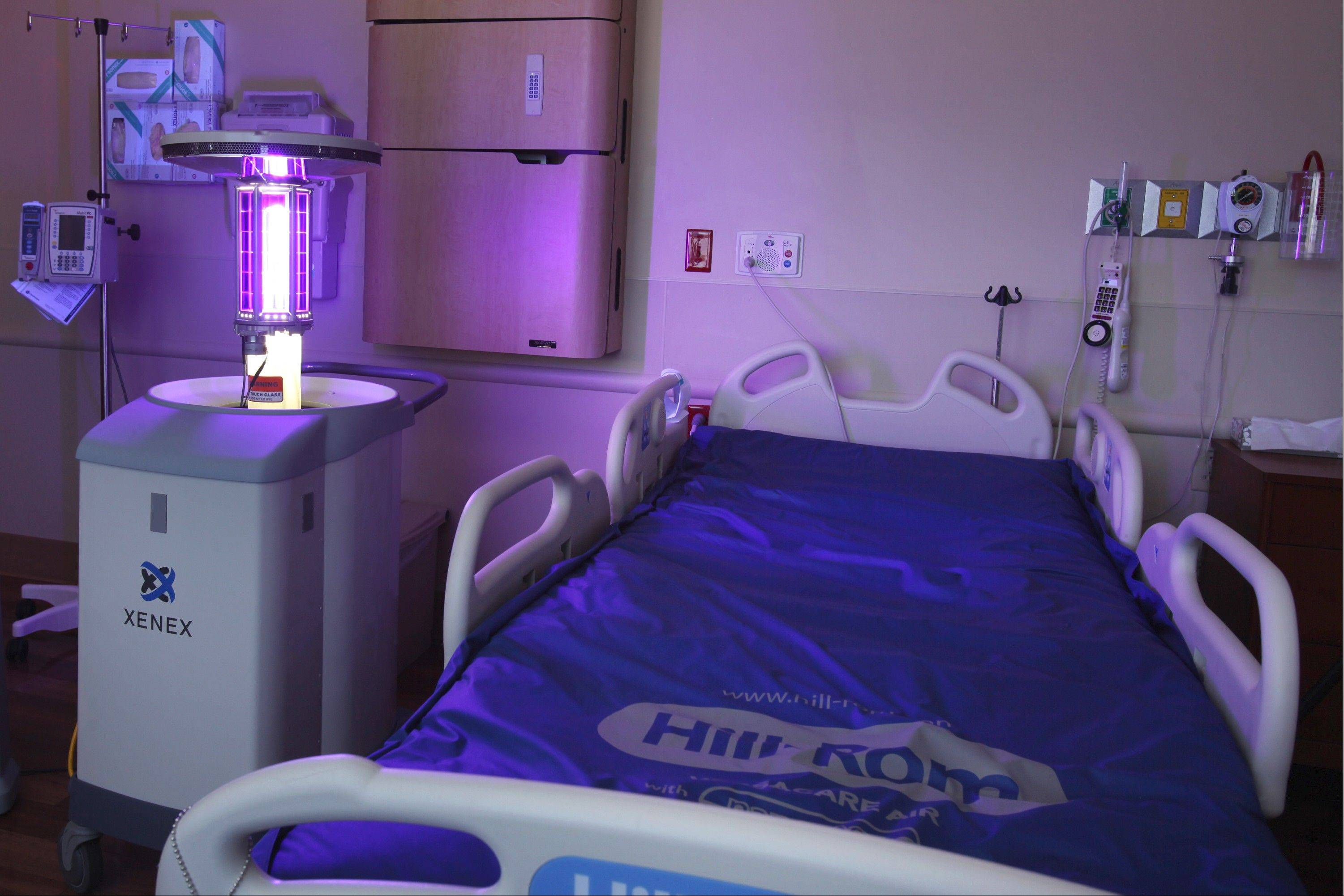 This Xenex robot uses ultraviolet light to kill more germs than many traditional cleaners.