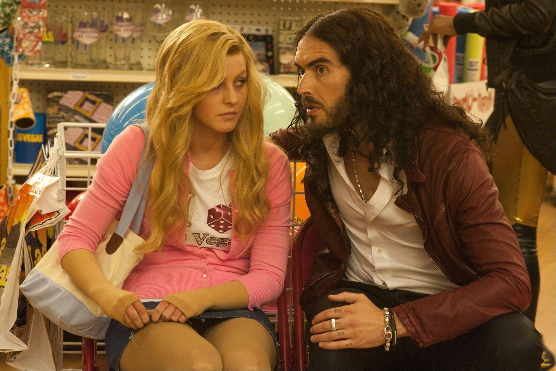 "Lamb (Julianne Hough) befriends a surprisingly compassionate bartender (Russell Brand) in Diablo Cody's choppy directorial debut ""Paradise."""