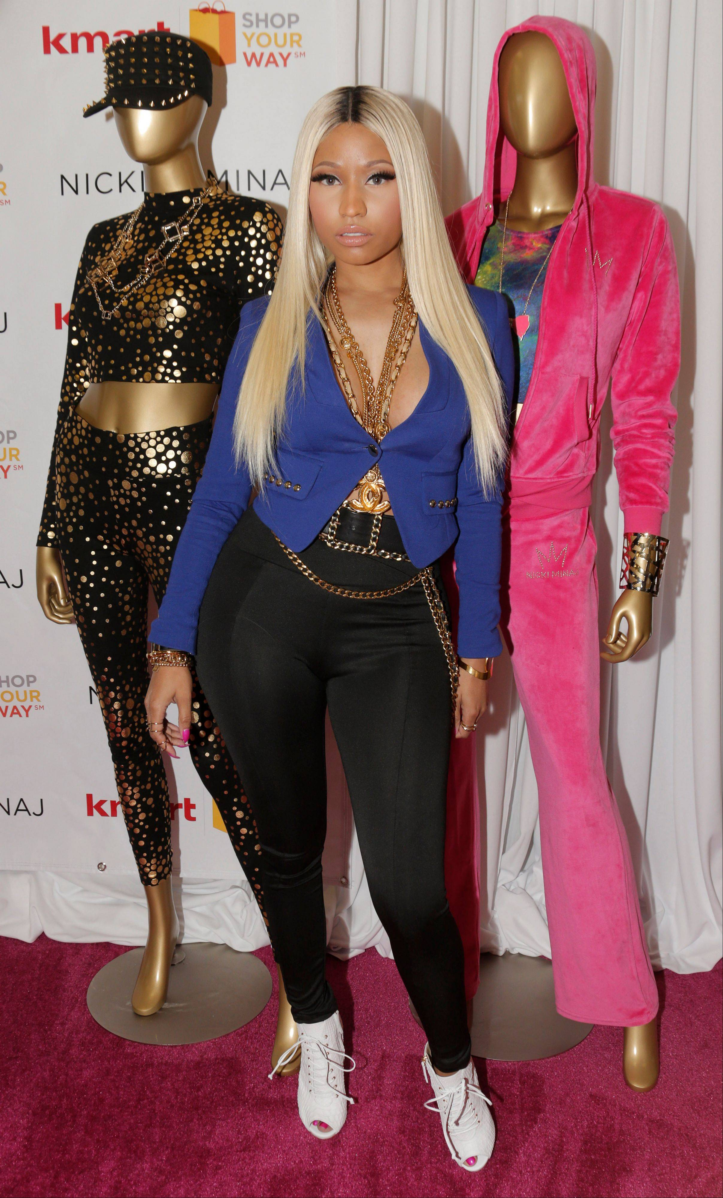 Nicki Minaj launches her fashion line at KMART on Tuesday in Los Angeles.