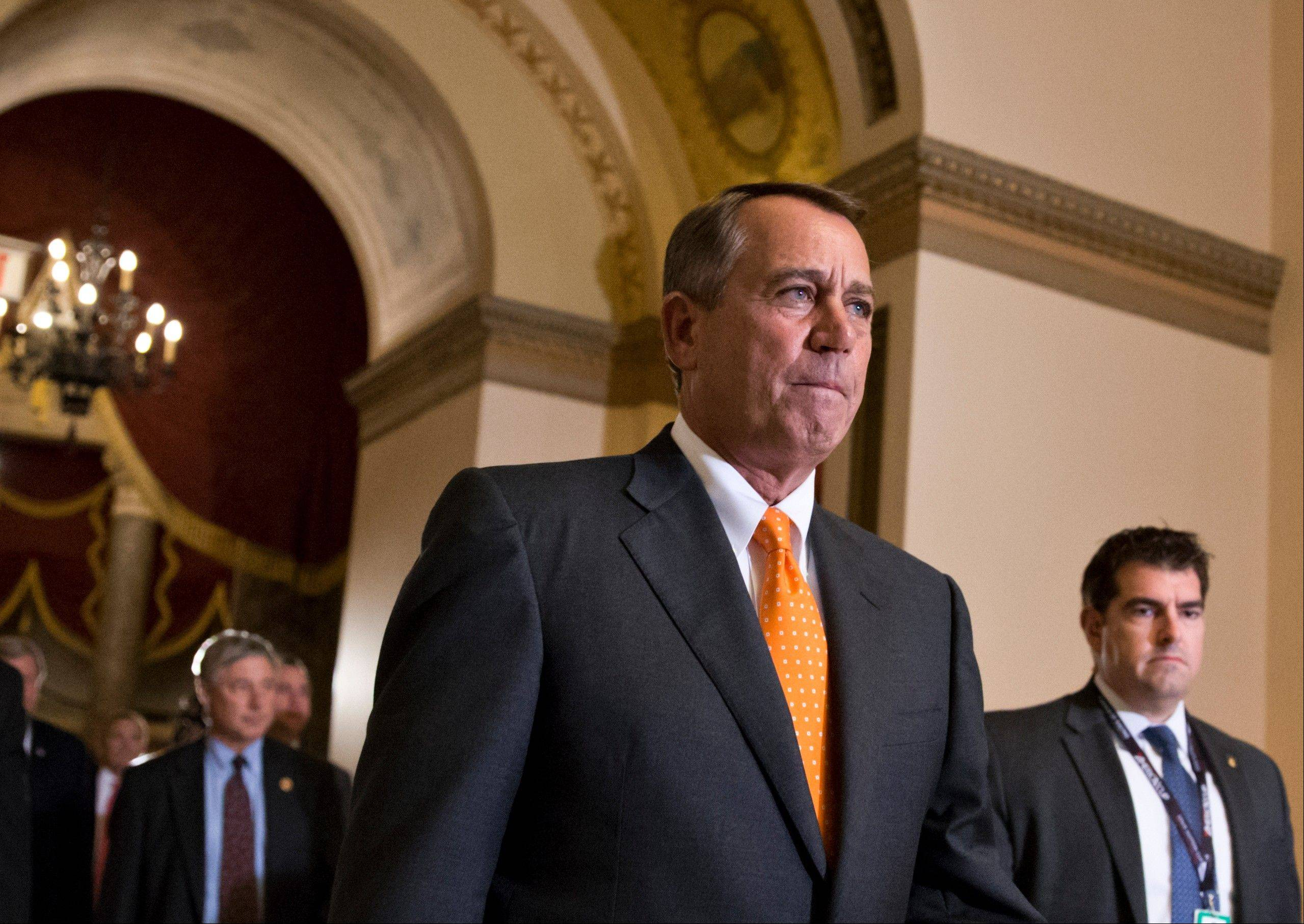 House Republicans refuse to let their supposed leader, Speaker John Boehner, steer them toward big policy decisions, leaving him to endure repeated public embarrassments. Yet they rally around Boehner as much as ever, affirming his hold on the speakership Wednesday even as they choked down a Democratic-crafted bill.