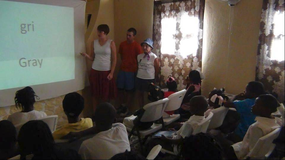 Inverness native Renata Wettermann has visited Haiti visited three times since the devastating 2010 earthquake. The Fremd High School grad currently attends Rice University. Here she teaches an English class in the Haitian port city of Les Cayes.
