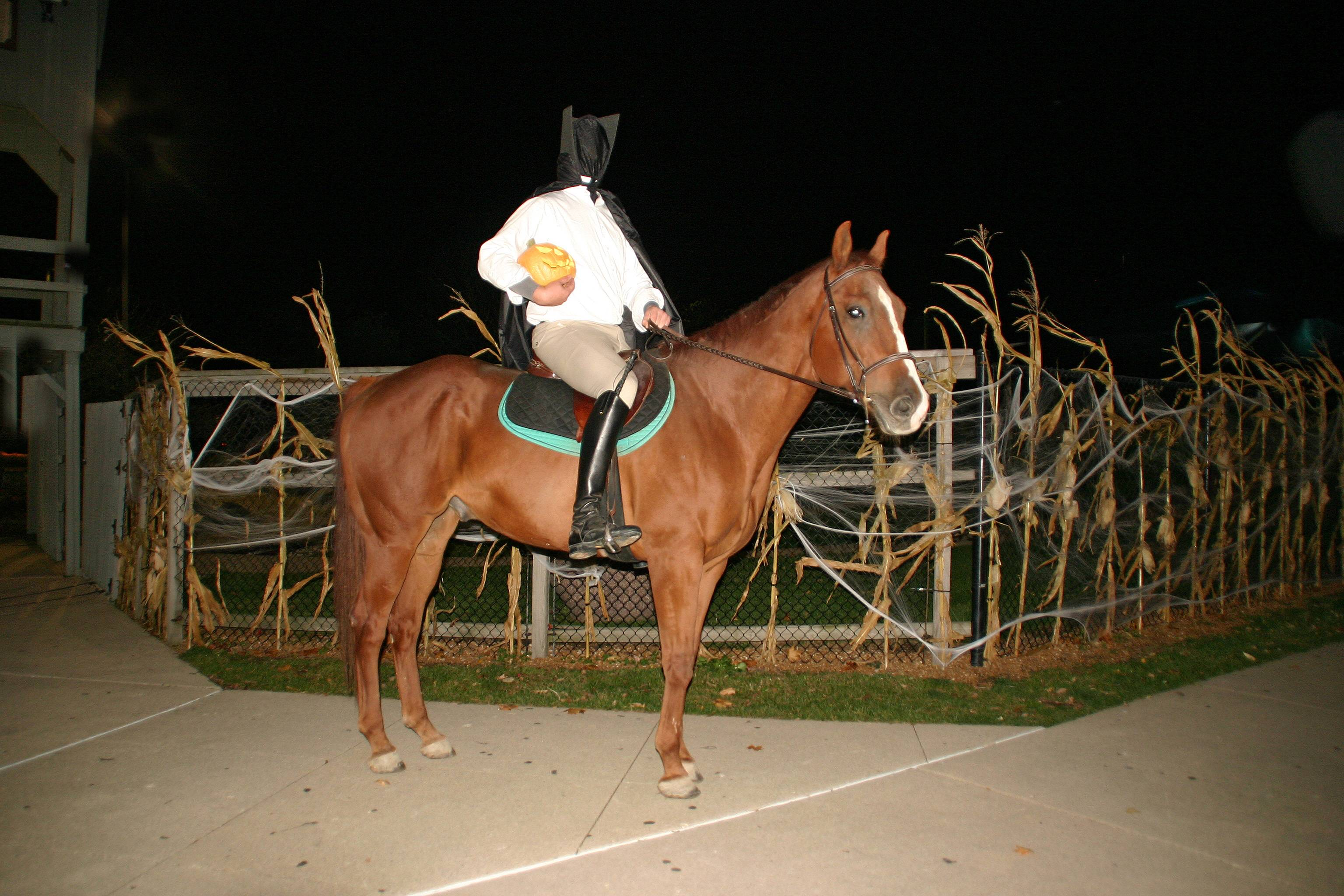 The Headless Horseman rides again at the 2013 Haunted Hole-O-Ween on October 25-27.