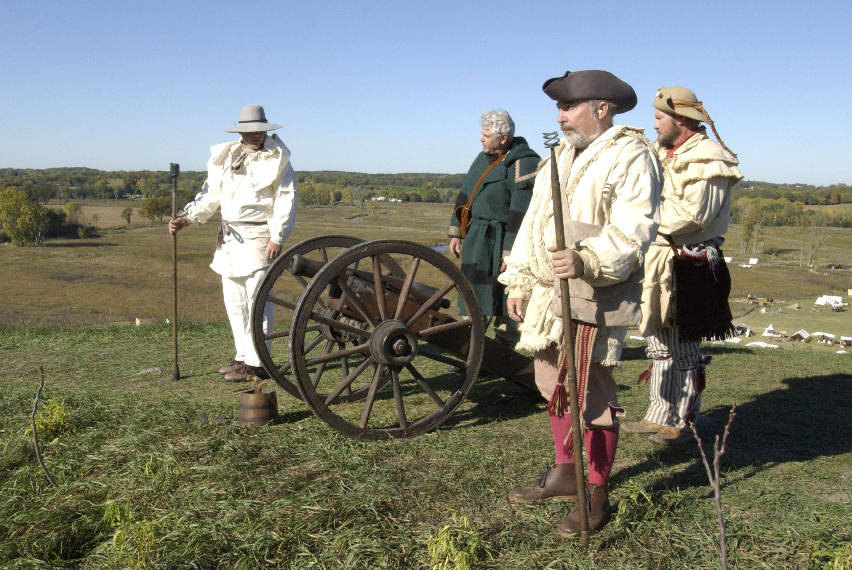 The cannon crew signals the opening and close of the Trail of History event.