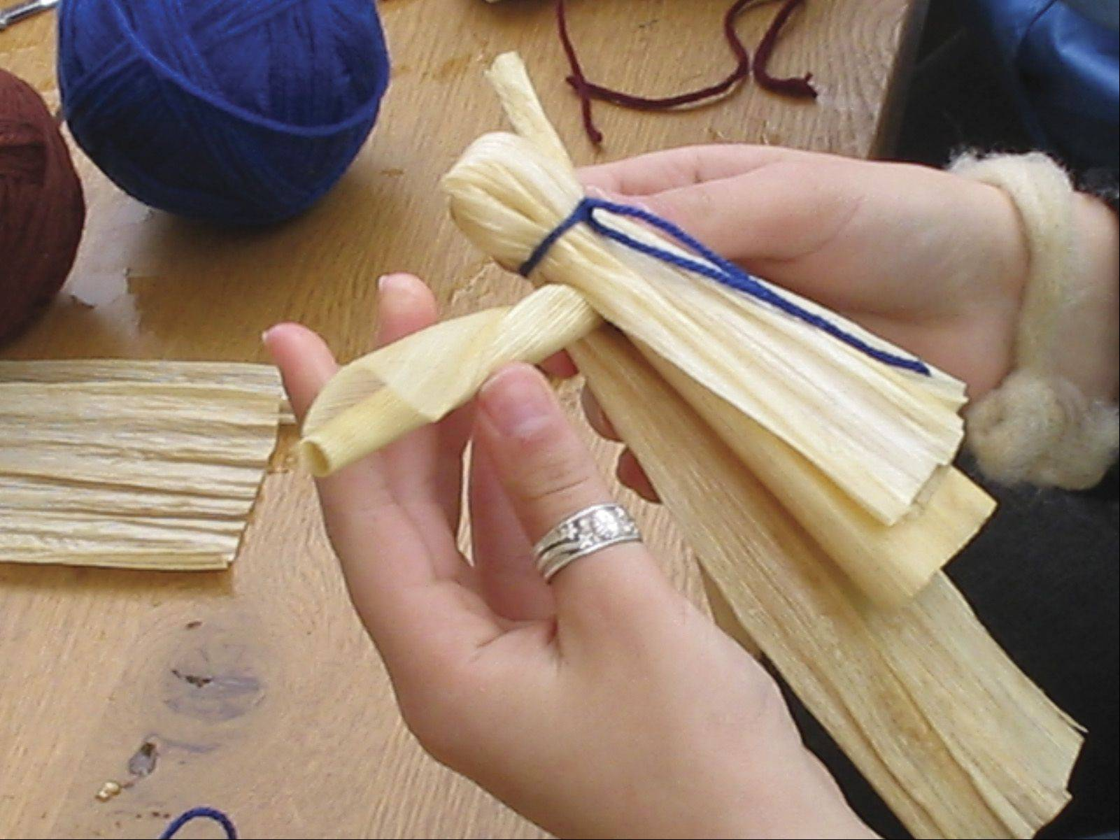 Crafts similar to those of the period can be seen as they're made.