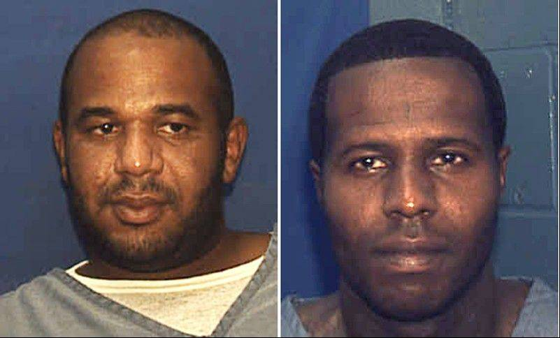 Joseph Jenkins, left, and Charles Walker were mistakenly released from prison in Franklin County, Fla., in late September and early October. According to authorities, the two convicted murderers were released with forged documents. A manhunt is under way for the two men.