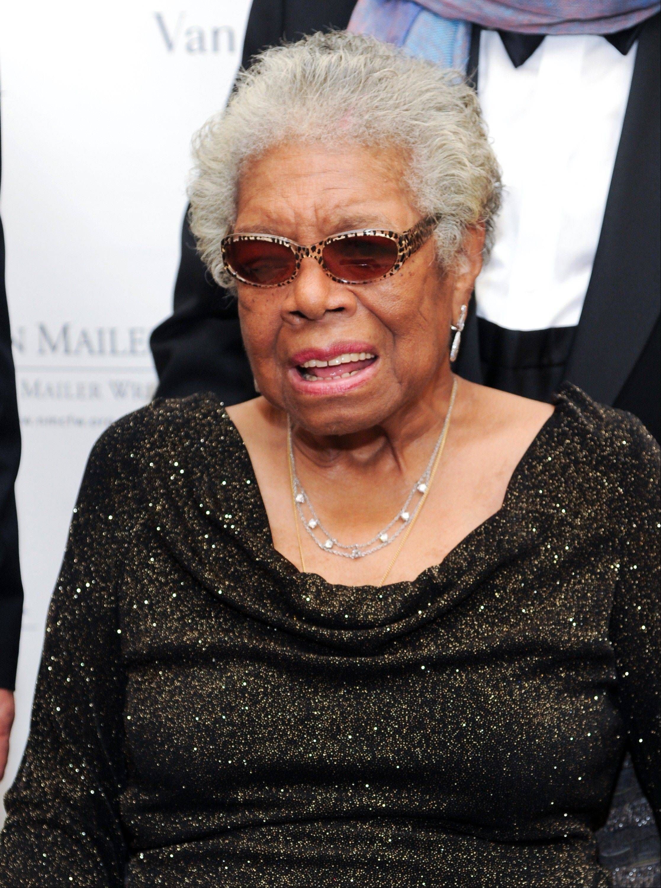 Maya Angelou received a Lifetime Achievement Award during the fifth annual Norman Mailer Center benefit gala at the New York Public Library on Thursday in New York.
