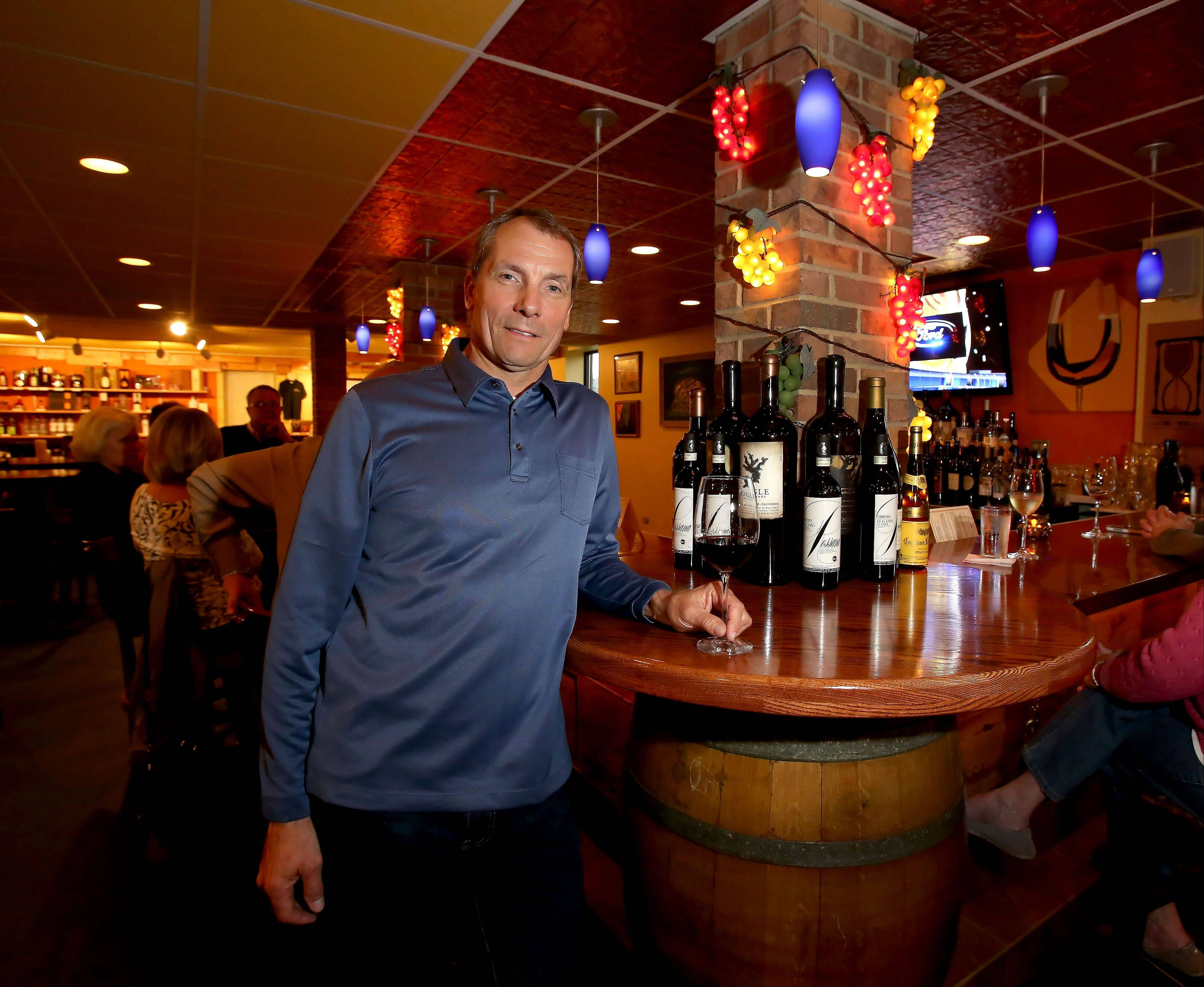 Mark Hadfield owns Wine With Me in Itasca, a wine bar and retail shop about to mark its fifth anniversary.