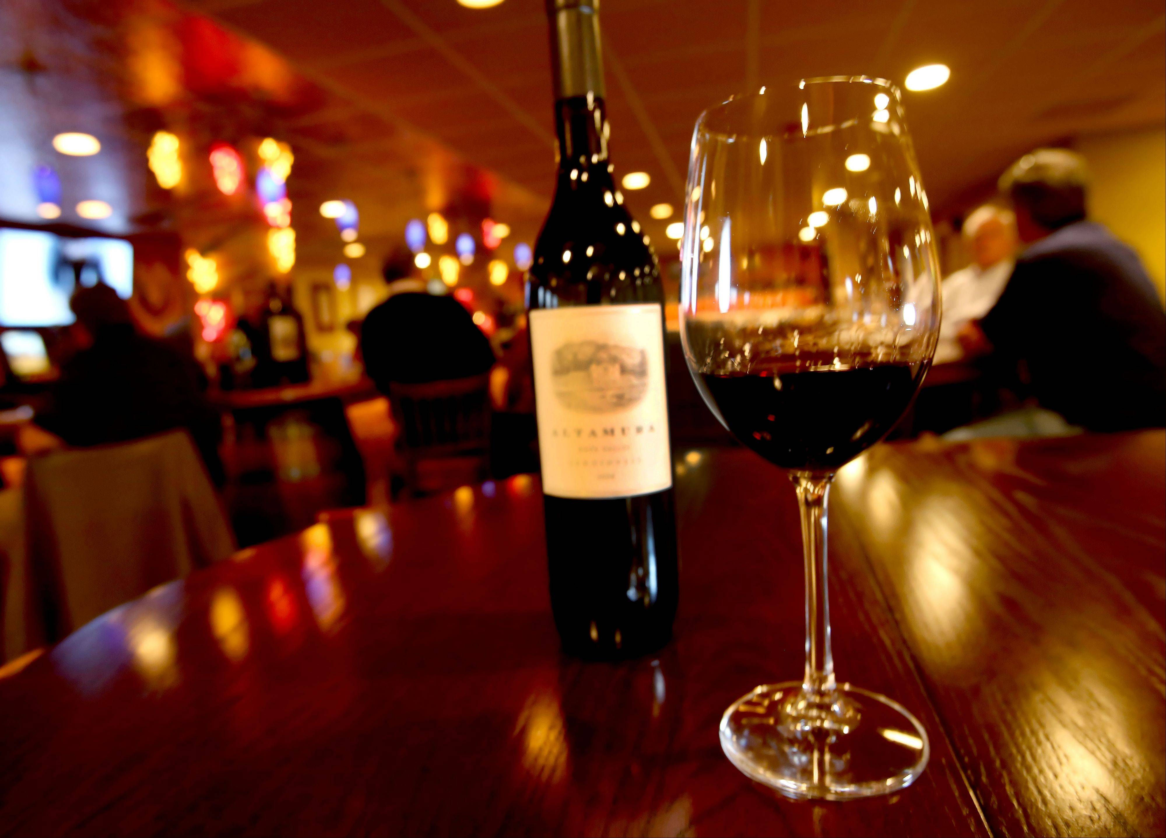 Itasca's Wine With Me offers a number of wines by the glass or bottle.