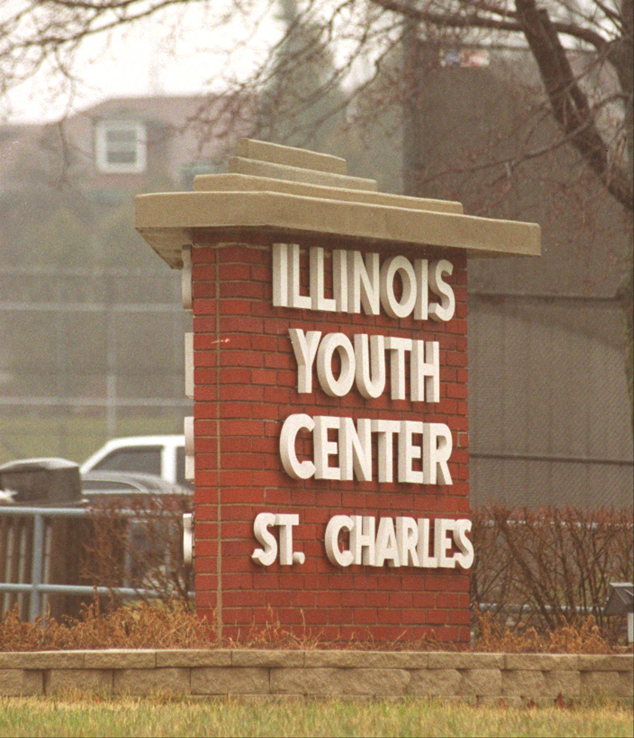 A van driver crashed into a building at the St. Charles youth center.