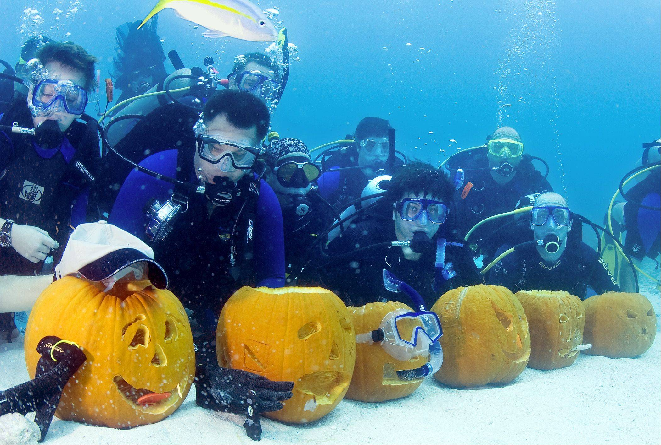 It's even possible to carve a pumpkin under water, as these divers demonstrated in 2008 in the Florida Keys National Marine Sanctuary off Key Largo, Fla.