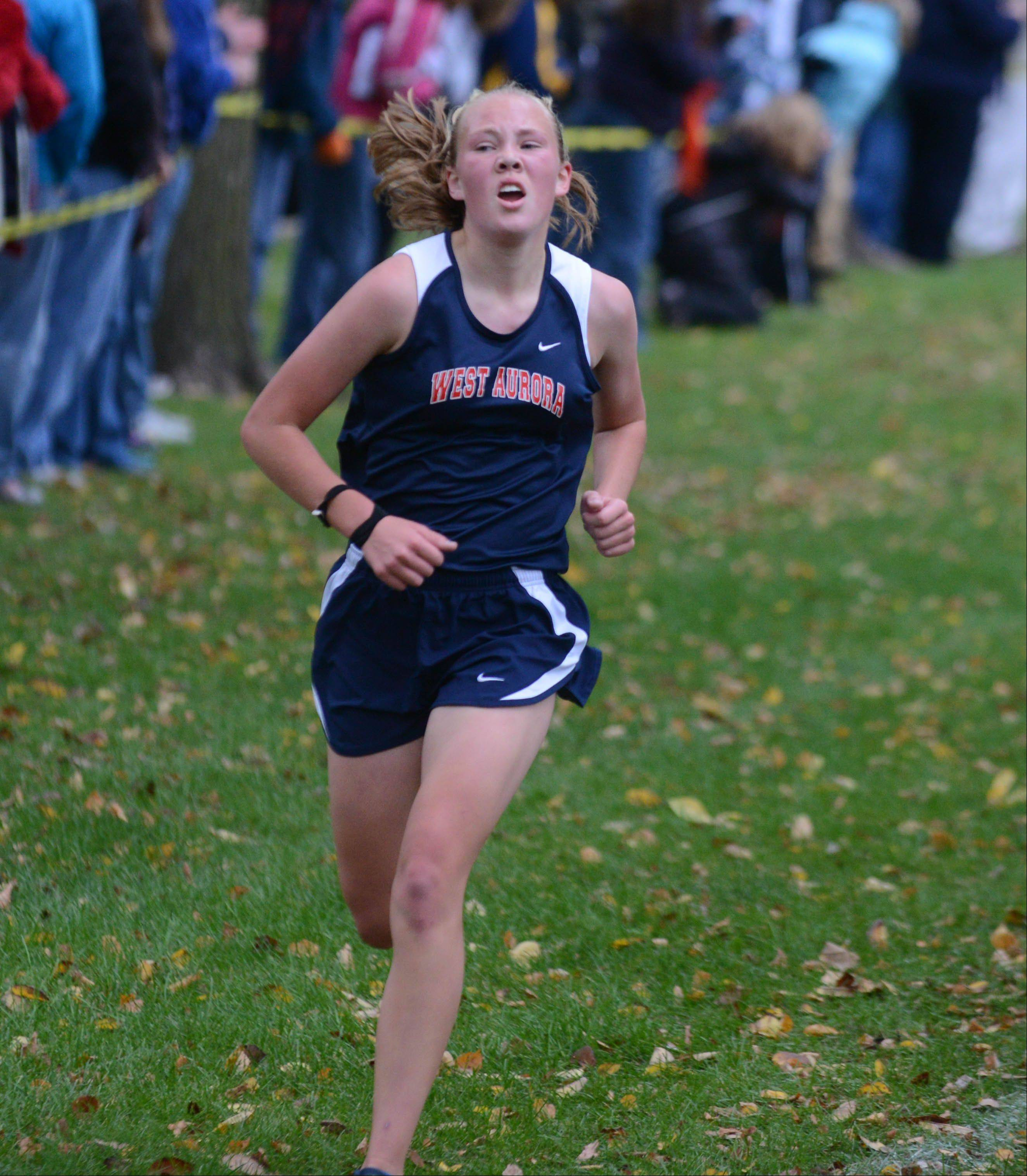 Taylor Truckenbrod of West Aurora took 15th at the DuPage Valley Conference boys and girls cross country meet Friday.