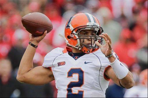 Quarterback Nathan Scheelhaase and the Illini haven't won a Big Ten game since October 2011.