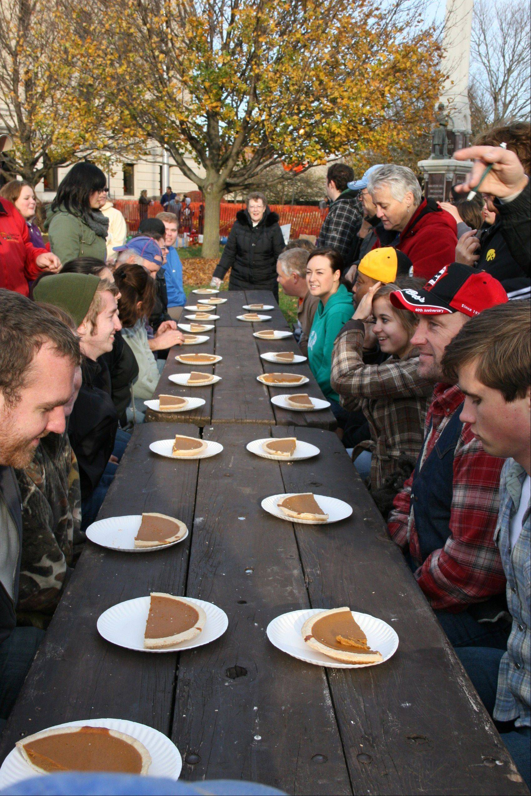 Who will scarf down the most pie at the 52nd annual Sycamore Pumpkin Festival Oct. 23-27?