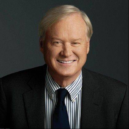 "Chris Matthews signs copies of ""Tip and Gipper: When Politics Worked"" at 2 p.m. Sunday, Oct. 20, at Pfeiffer Hall at North Central College in Naperville."