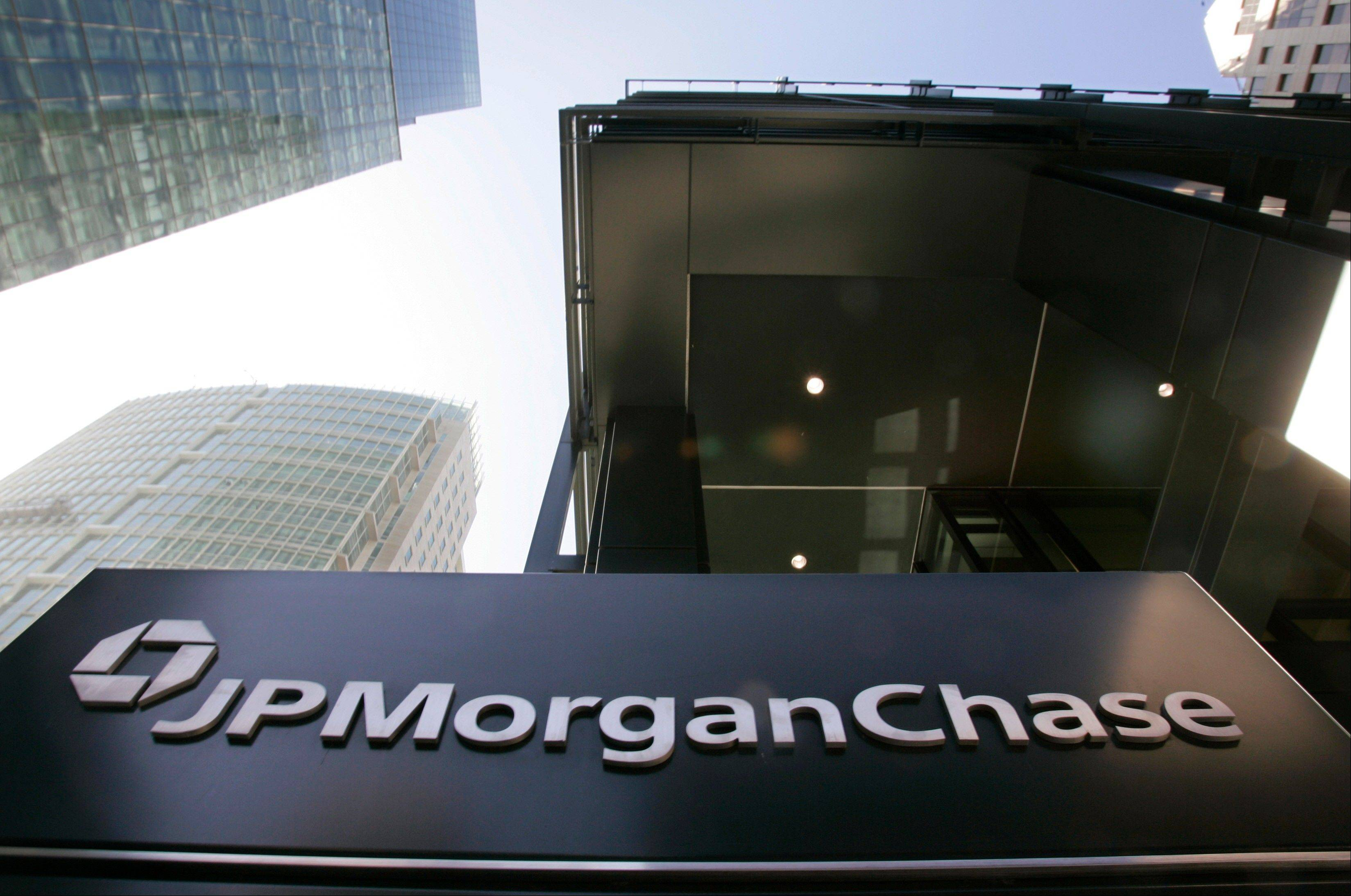 The exterior view of JPMorgan Chase offices in San Francisco.