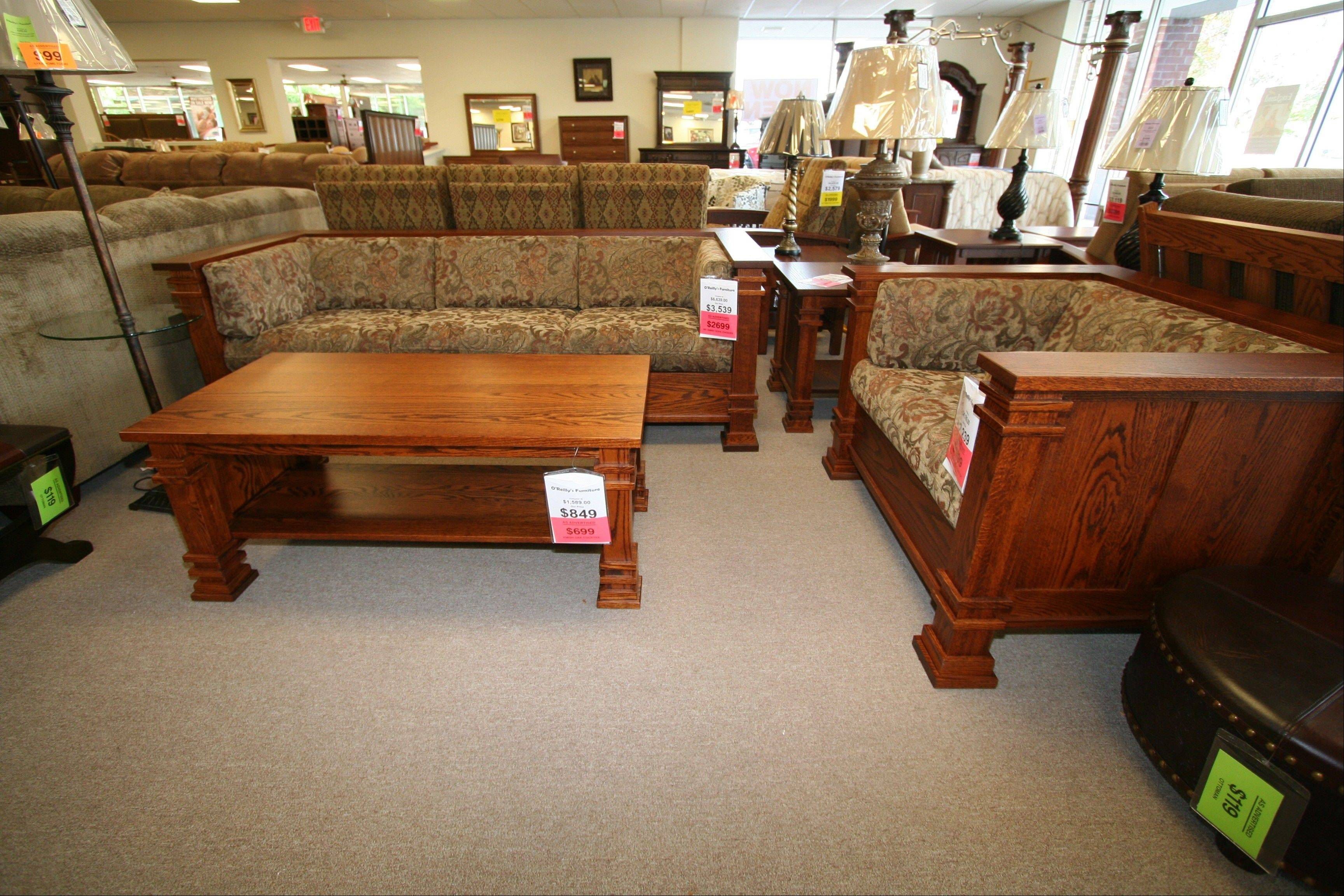 Custom-made Amish furniture is popular today, O'Reilly said.