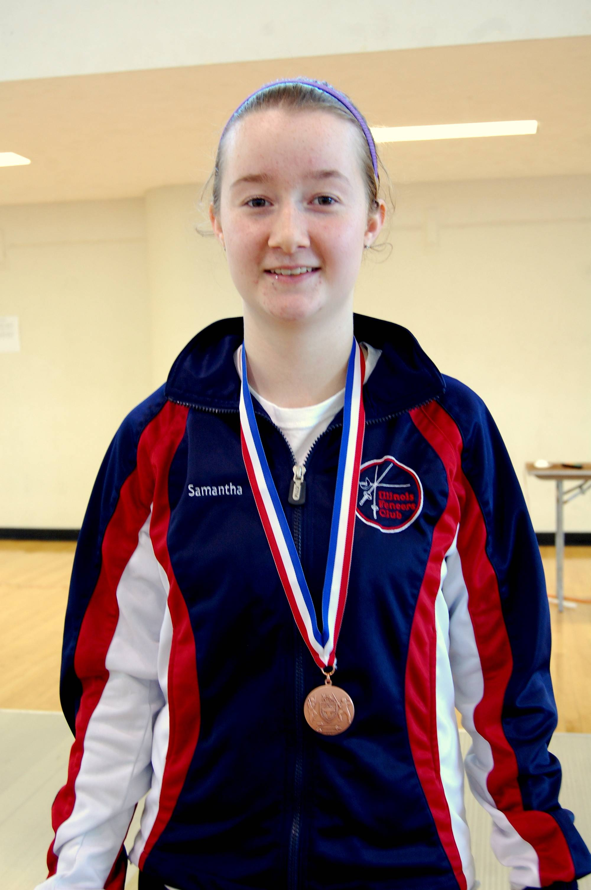 Samantha Doro placed 6th in Senior Women's Epee at the Burton Open fencing tournament held at Northwestern University