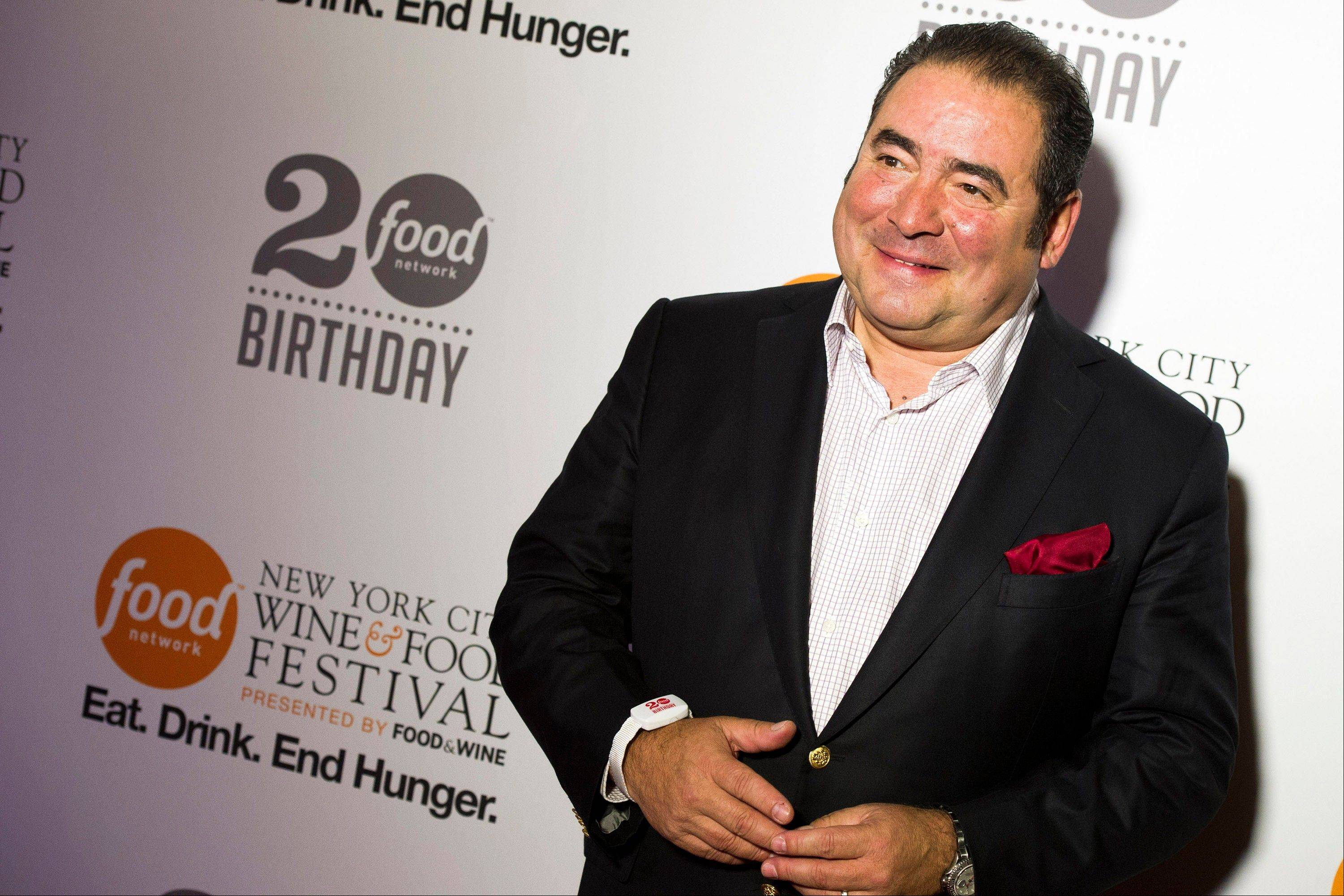 Emeril Lagasse attends the Food Network's 20th birthday party on Thursday in New York.
