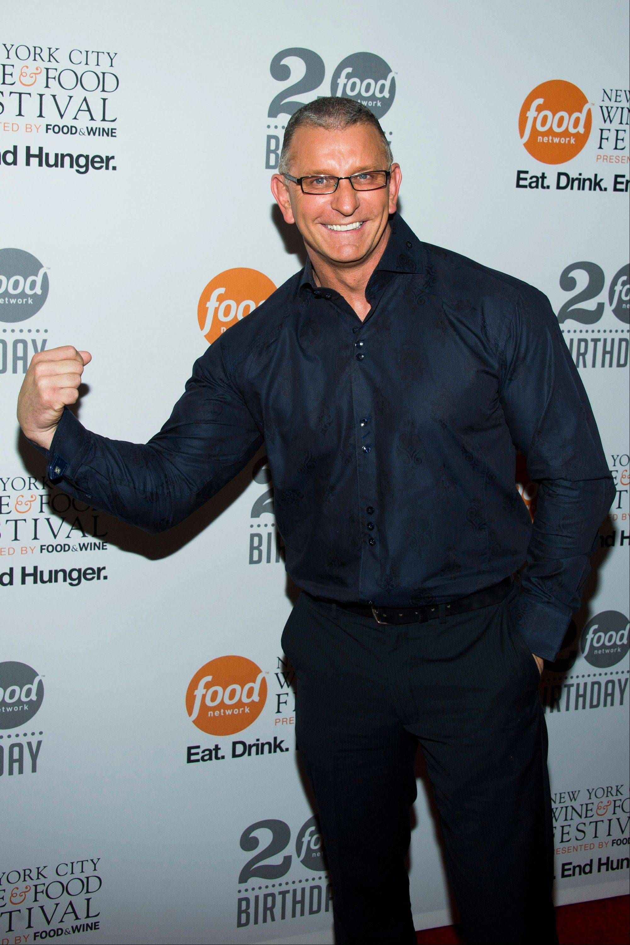 Robert Irvine attends the Food Network's 20th birthday party on Thursday in New York.