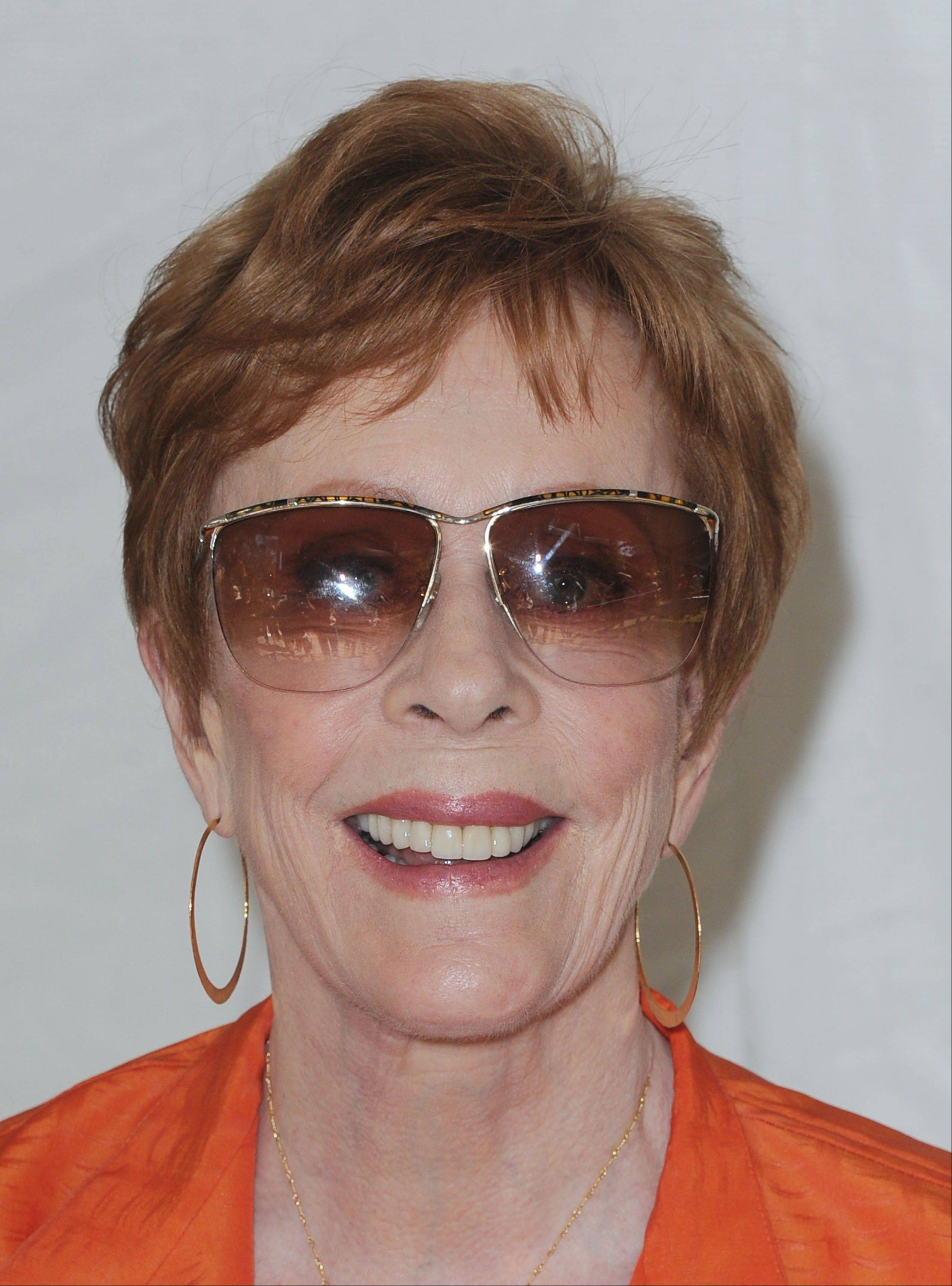 Carol Burnett will receive the Kennedy Center's Mark Twain Prize for American Humor Sunday.
