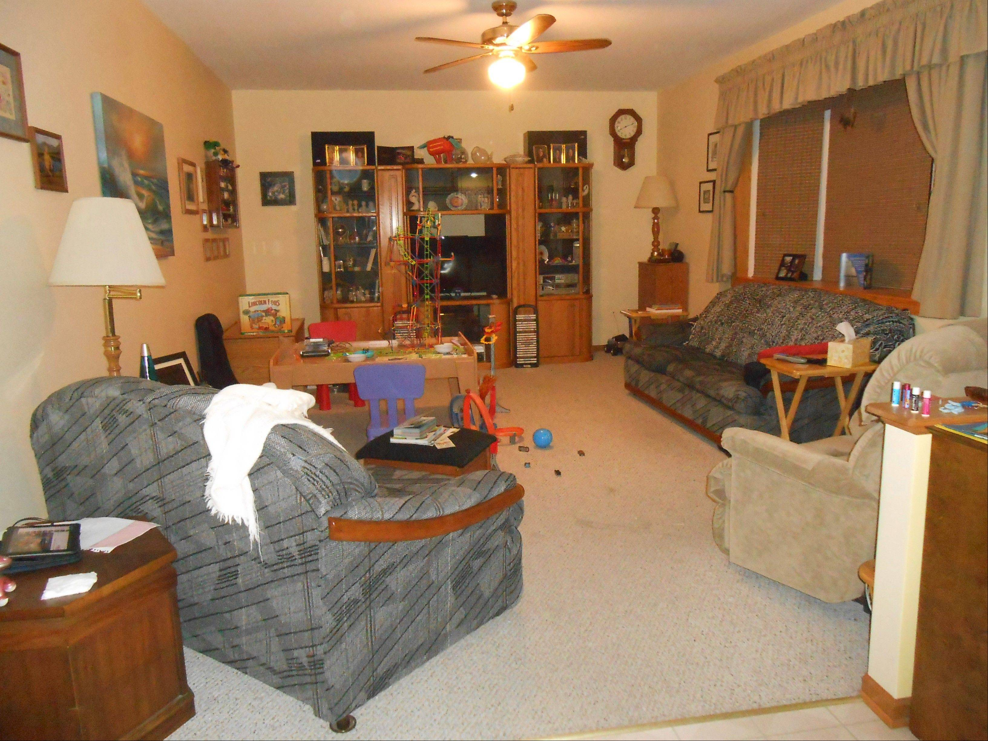 Kim King of Huntley nominated her family room with outdated furniture.