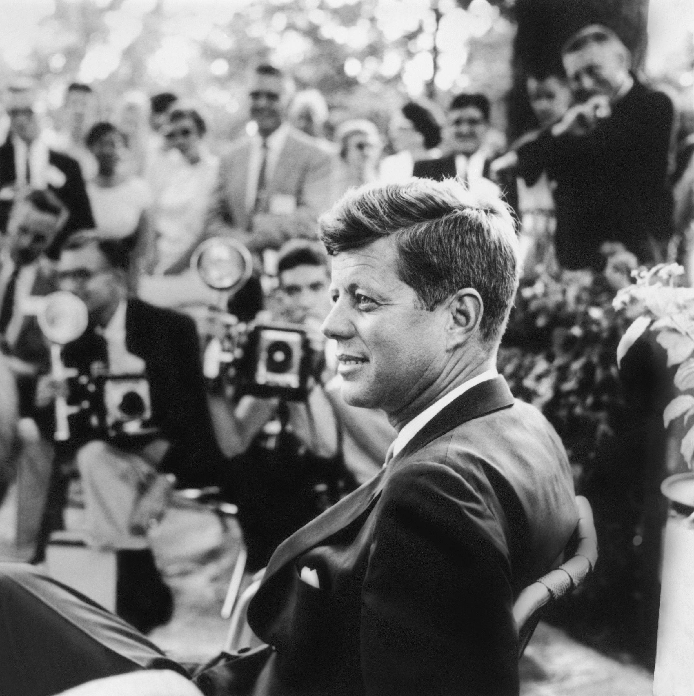 This year marks the 50th anniversary of the assassination of President John F. Kennedy, shown here at a news conference in Omaha, Neb., in 1959.