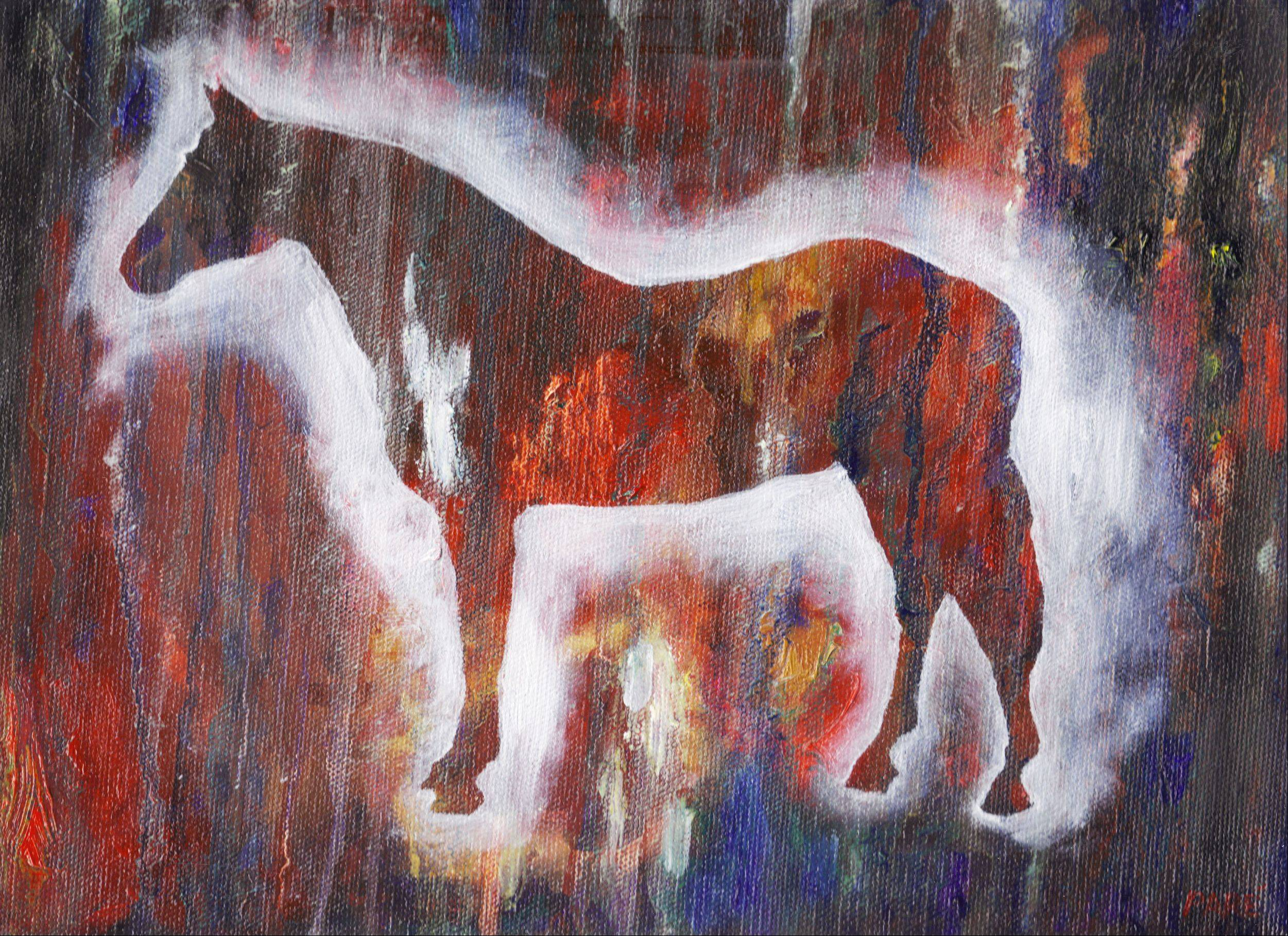 Horse painting by Mariam Par� of Naperville.