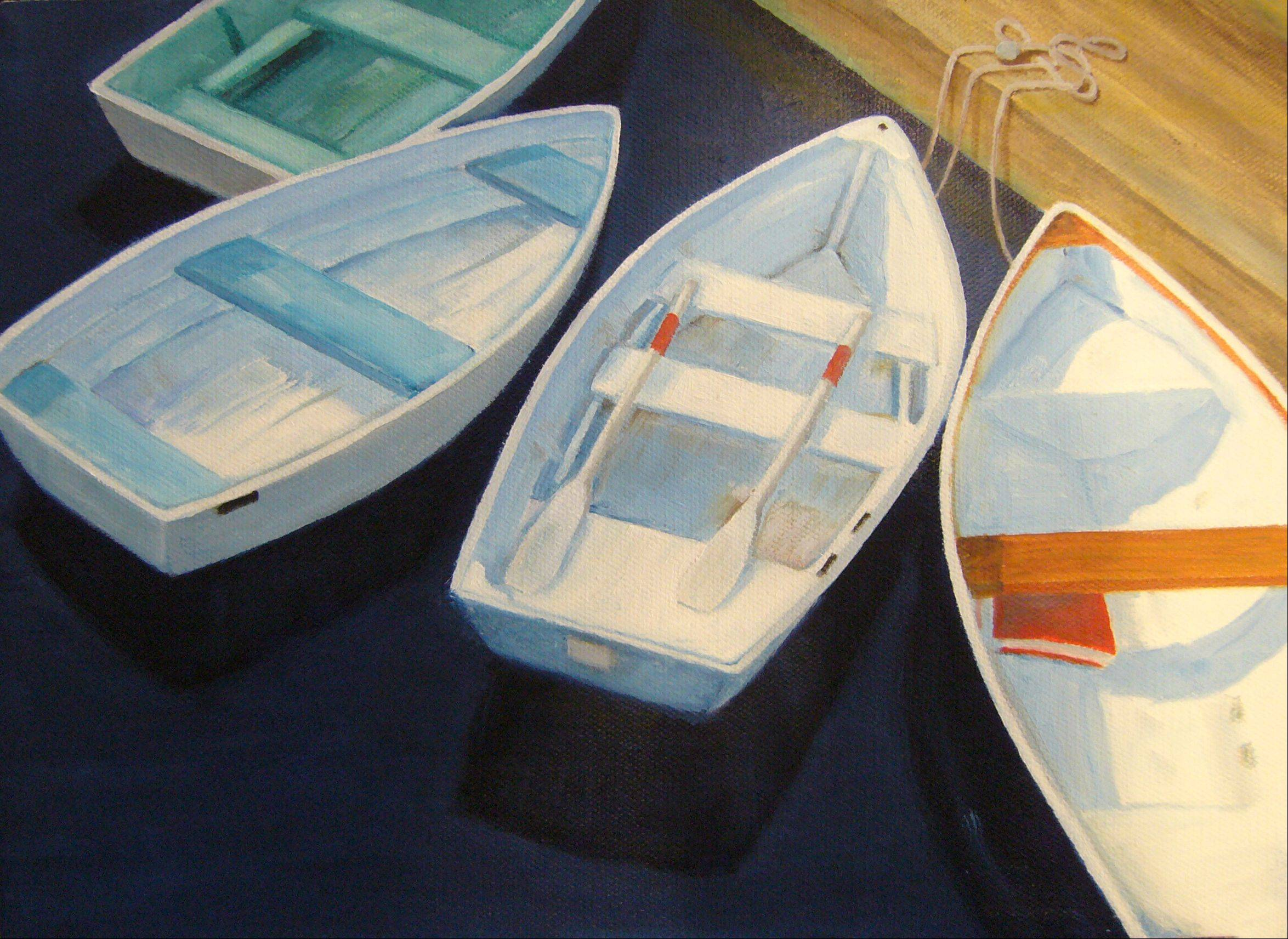 Row Boats by Mariam Par� of Naperville.