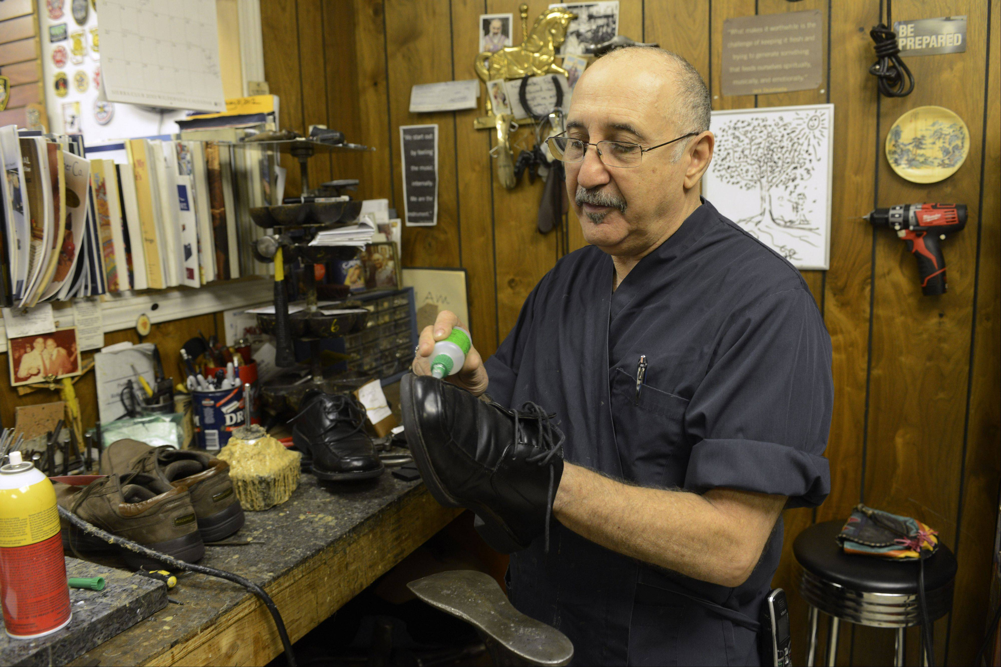 Larry DeAngelo, owner of Al's Shoe Service, said he likes his location on Prospect Avenue.