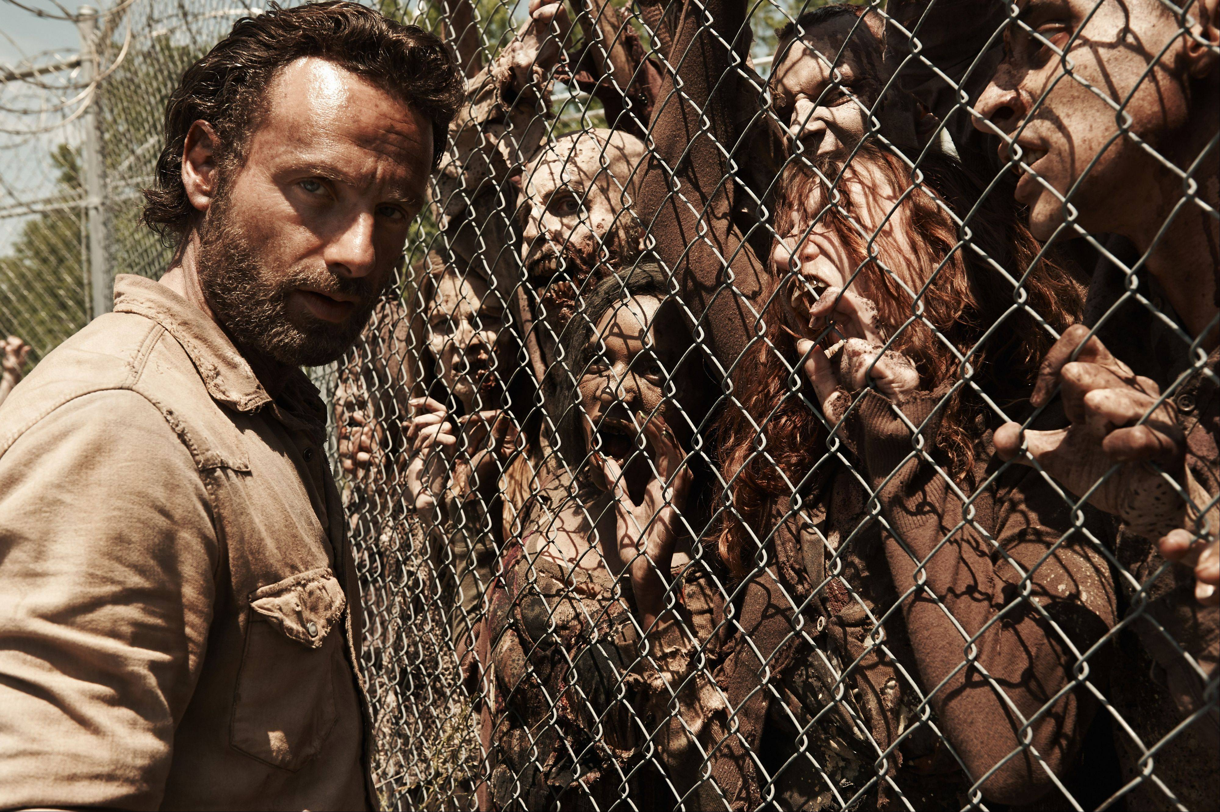 "Rick Grimes (Andrew Lincoln) faces more challenges on this season of AMC's ""The Walking Dead."""