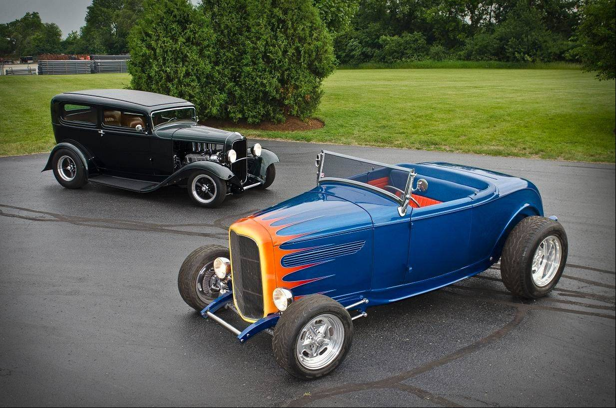 1932 Ford Roadster & 1932 Ford Sedan, Hank Groves, Woodstock