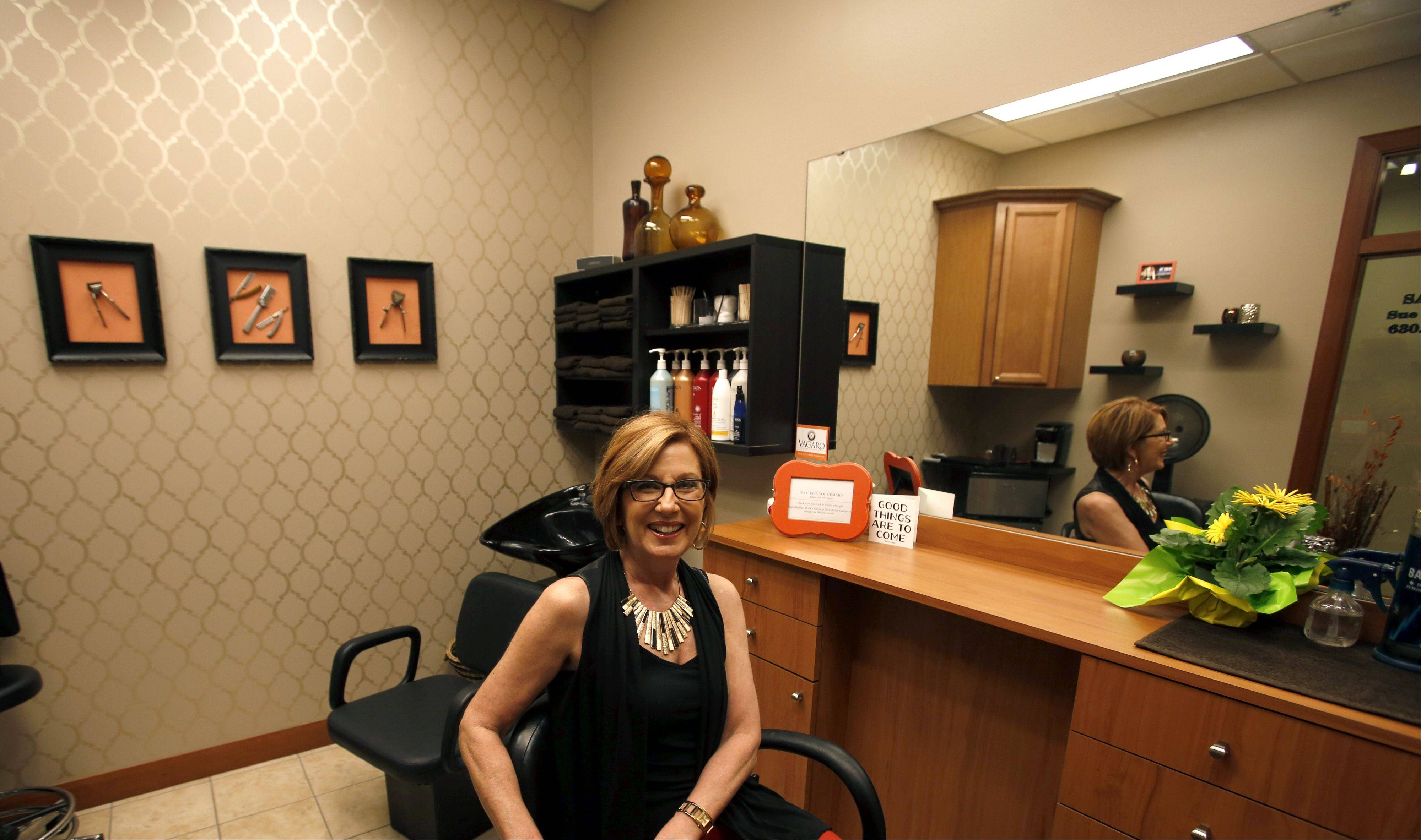 Stylist Sue Putignano recently opened Salon 105 in the InStyle Salon suites in Algonquin.
