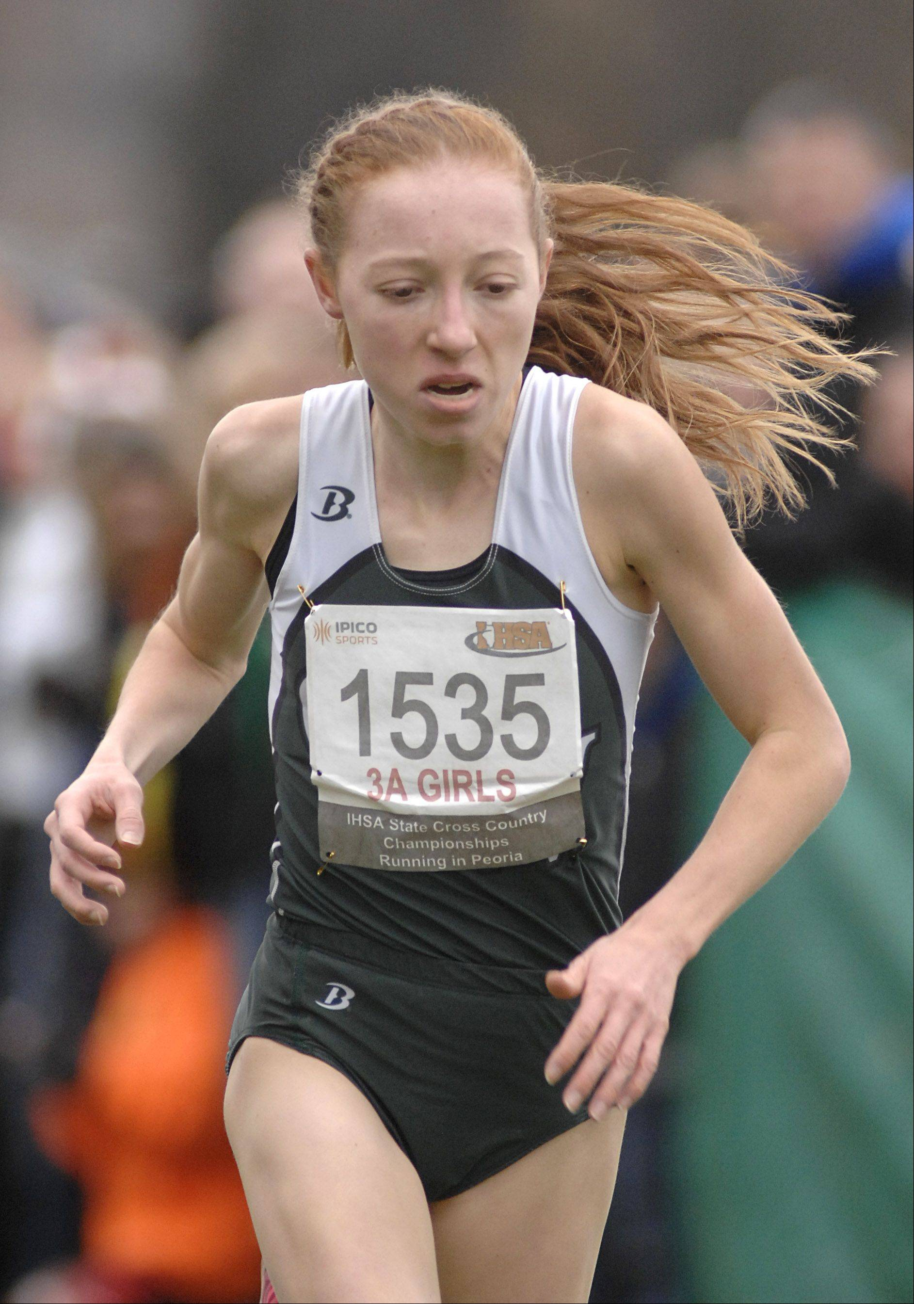 Glenbard West's Madeline Perez returned from injury to run in the West Suburban Silver meet last weekend.