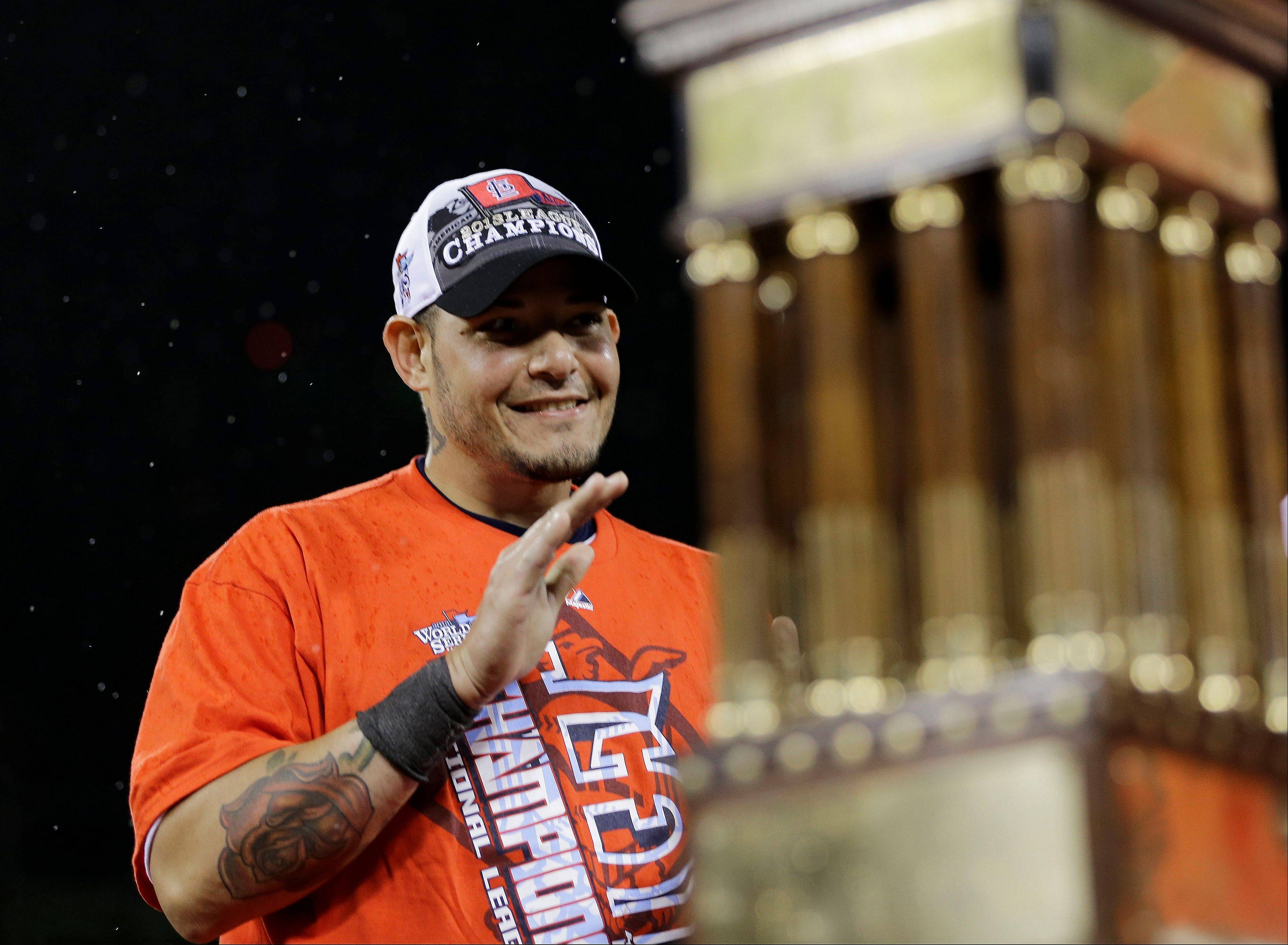 Veteran catcher Yadier Molina is a product of the St. Louis farm system.