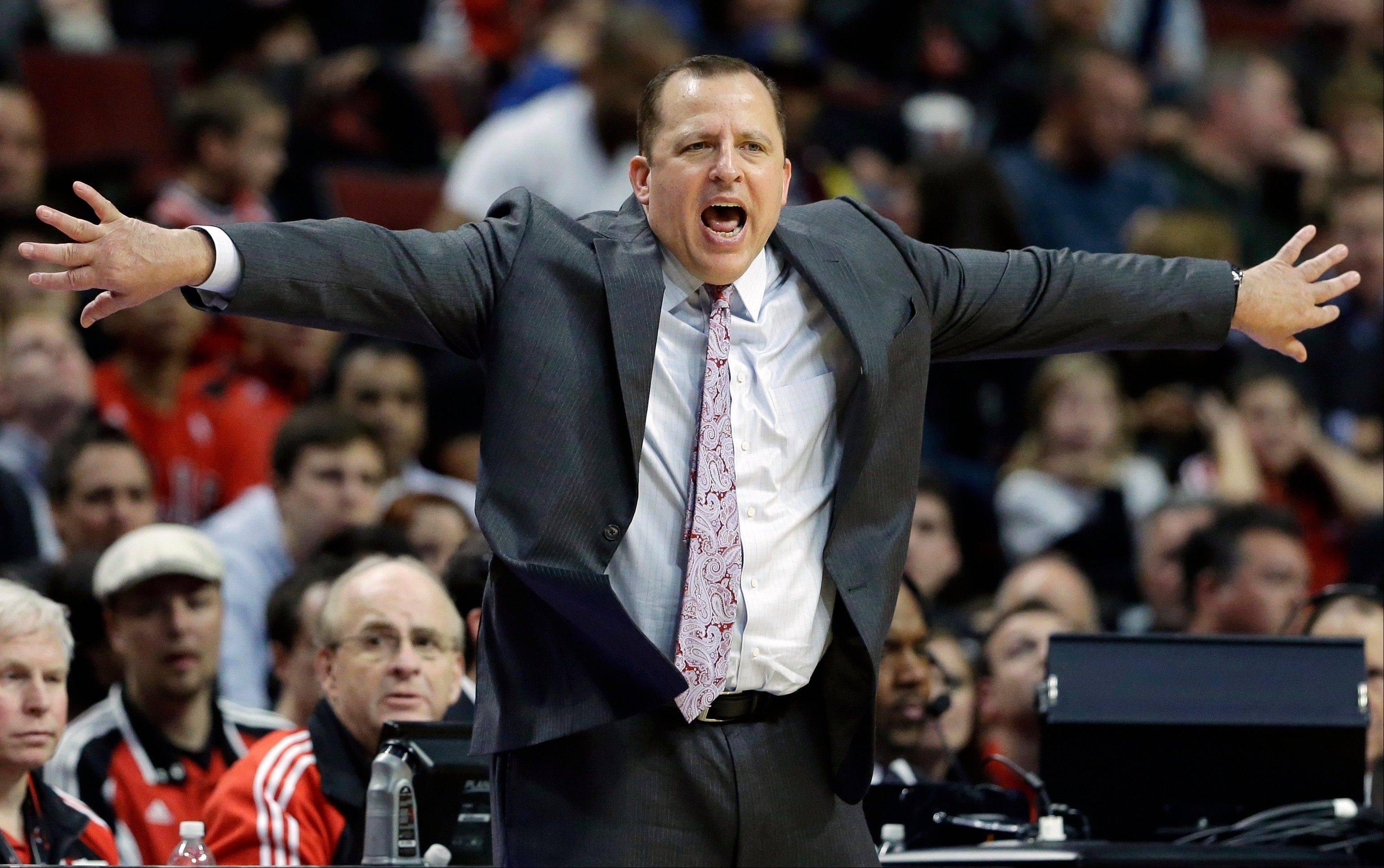 "Bulls head coach Tom Thibodeau said he thinks his players need to ask themselves if they are ""putting everything they have into each and every practice."""