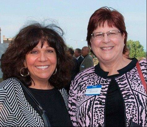 Joanna Rolek, president of the College of Lake County Foundation board of directors, left, with Karen Schmidt, foundation executive director.