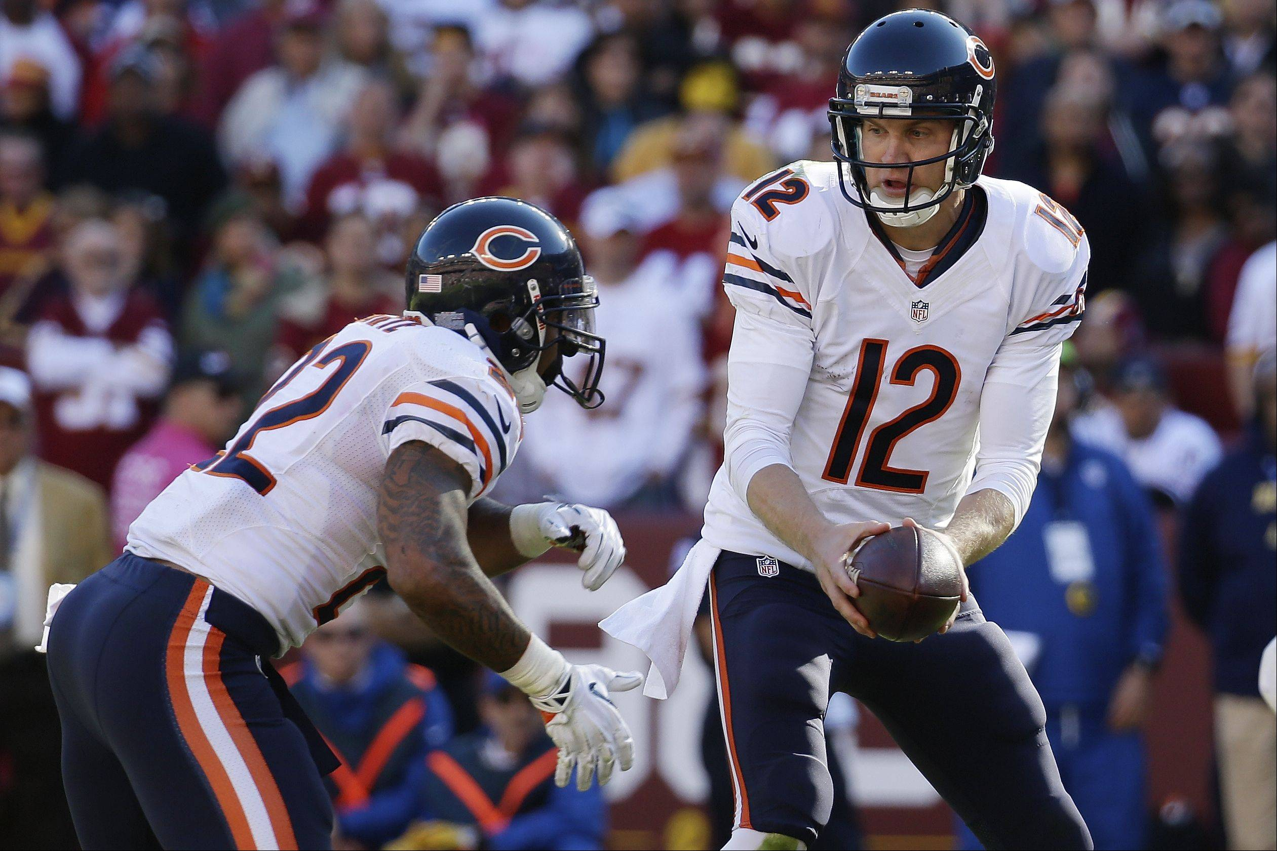 Bears quarterback Josh McCown, with help from running back Matt Forte, led the offense to 24 point points against Washington in the second half of Sunday's 45-41 loss.
