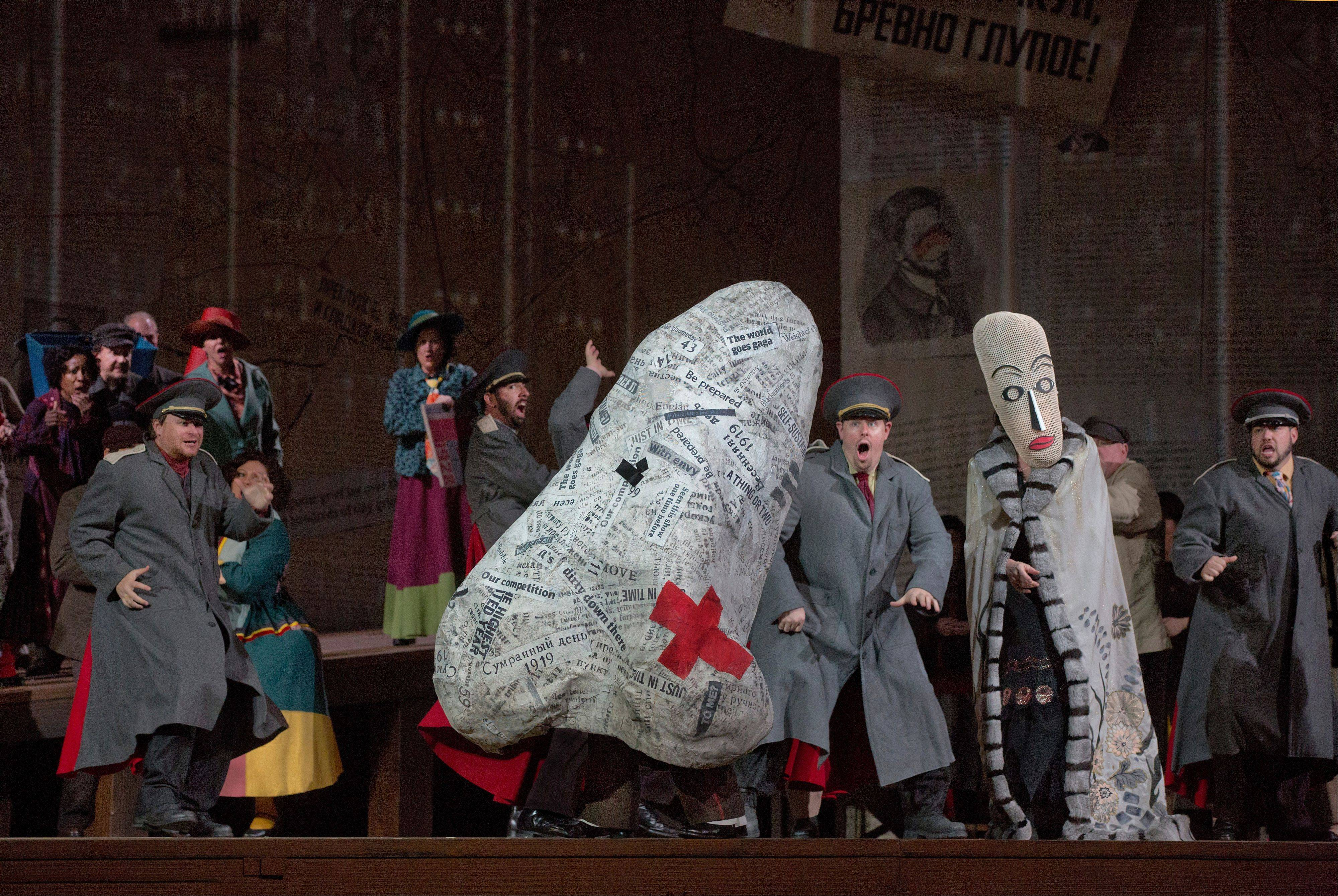 "William Kentridge's multimedia staging of Shostakovich's comic opera ""The Nose"" is screened to movie theaters around the world on Saturday, Oct. 26."