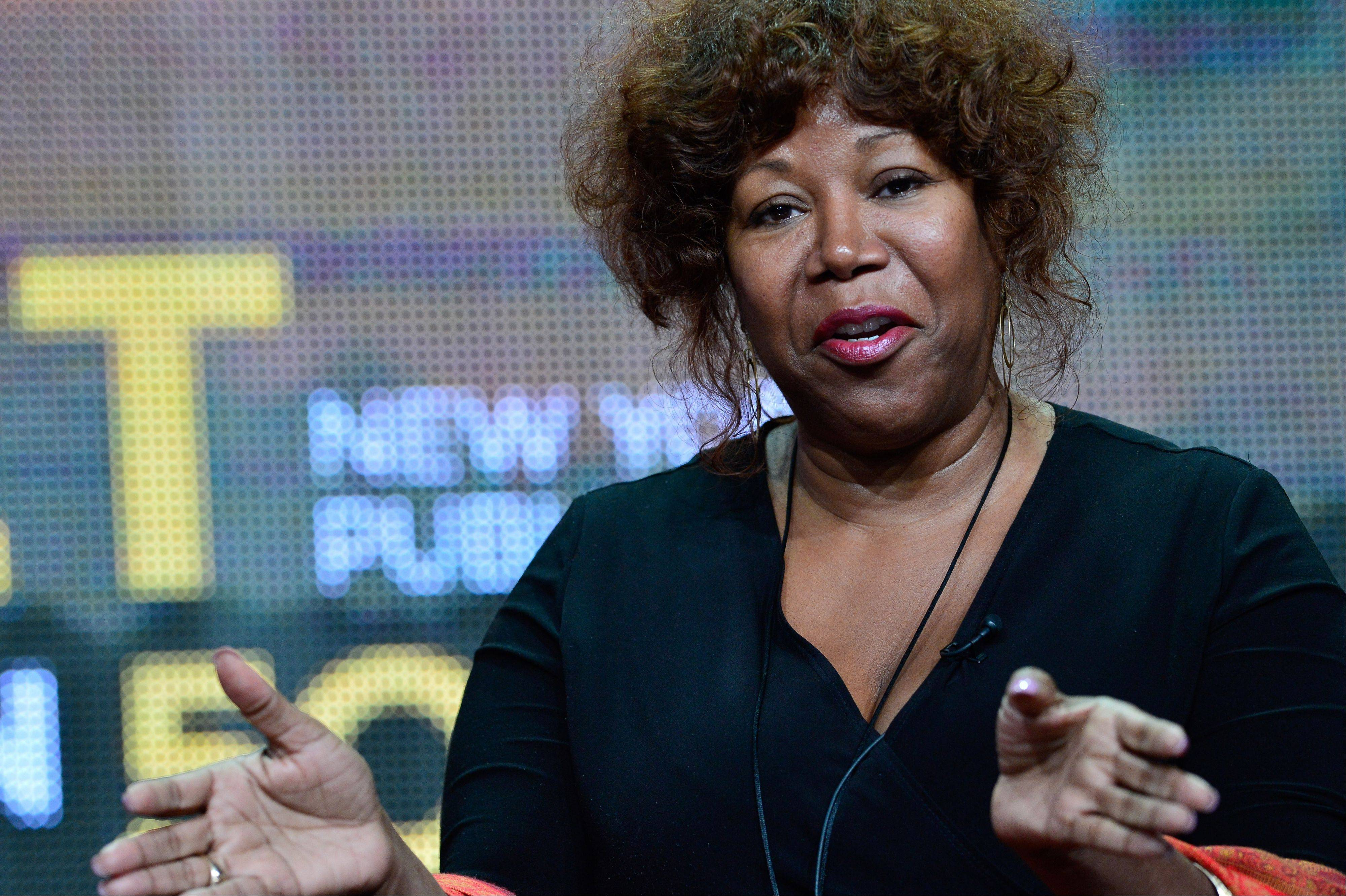 "Civil rights icon Ruby Bridges speaks during PBS' ""The African Americans: Many Rivers to Cross With Henry Louis Gates Jr."" session at the Television Critics Association Summer Press Tour in Los Angeles. The new PBS documentary series that traces 500 years of black history premieres at 7 p.m. Tuesday."