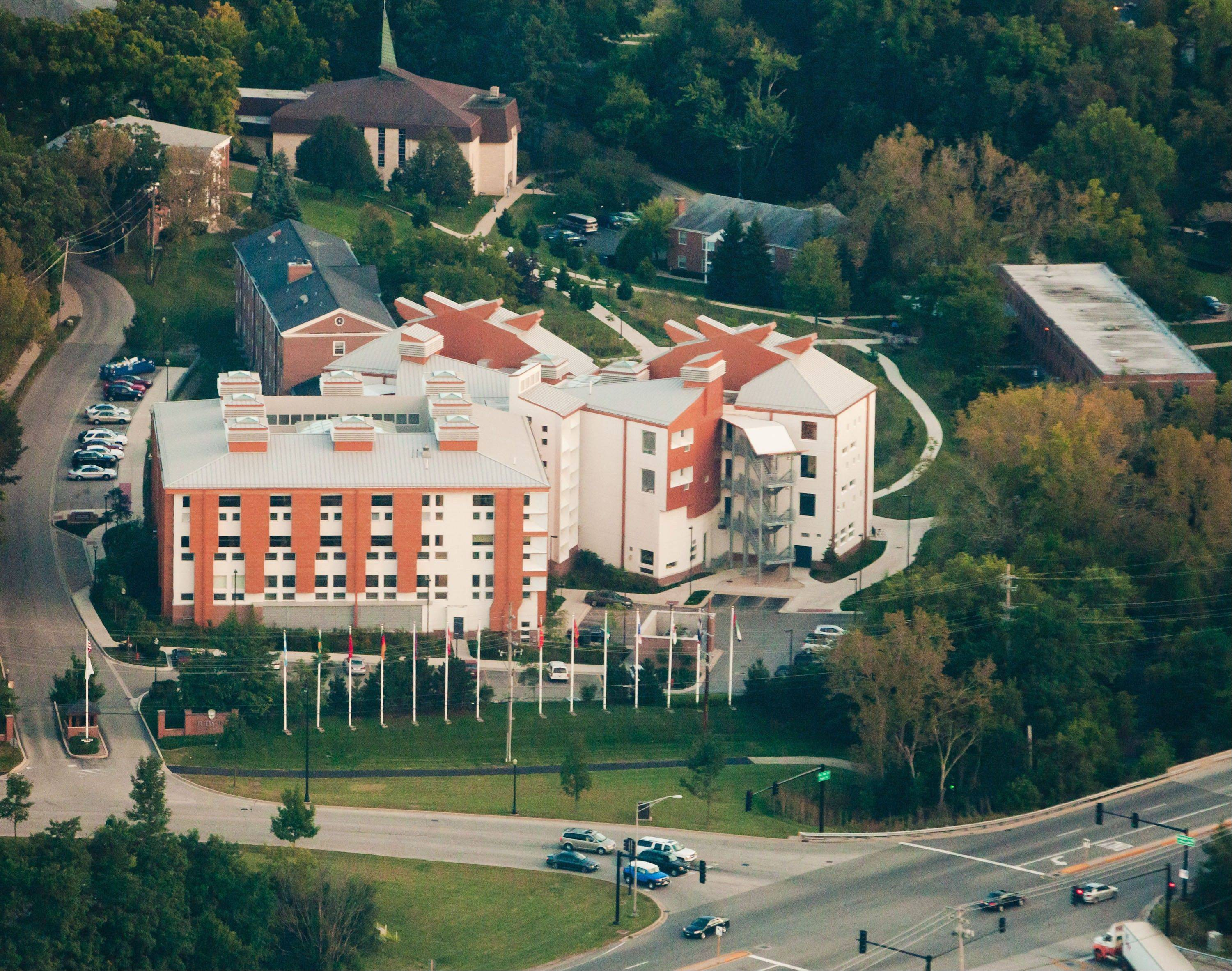 An aerial view of Judson University's Elgin campus. The university marks 50 years in that location this year.