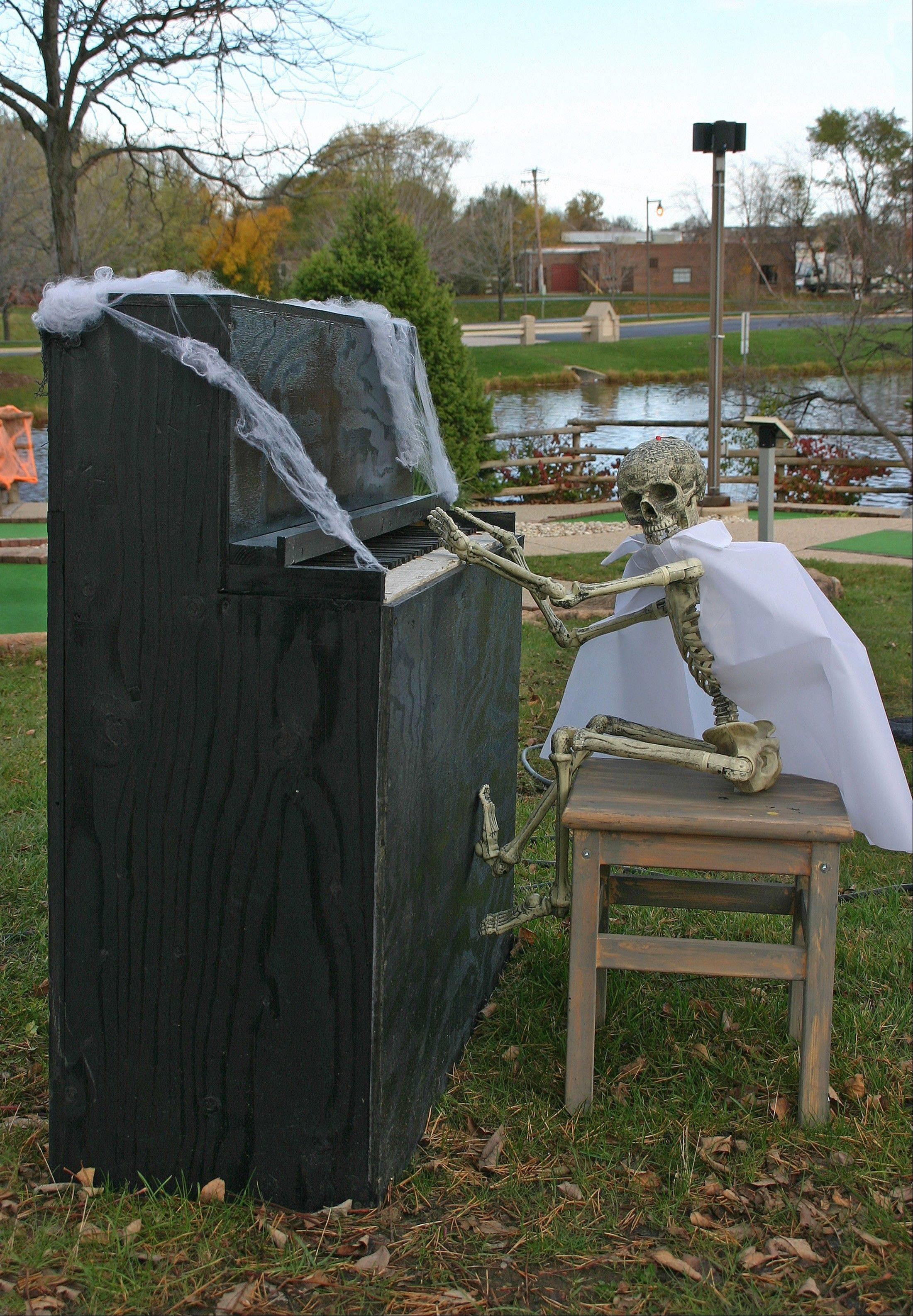 Frank Steinway tickles the ivories at the 2012 Haunted Hole-O-Ween. Beware, danger lurks around every hole.
