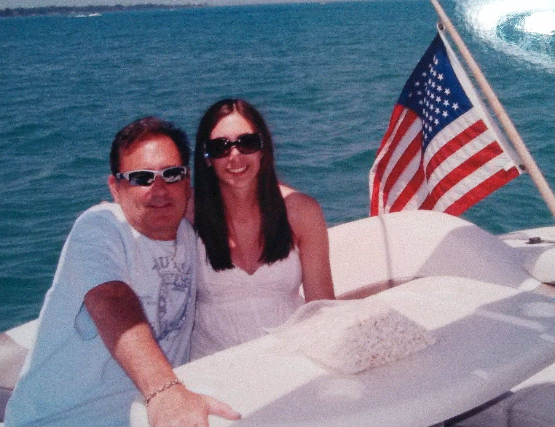 Richard Franzese, shown with his daughter, Danielle Franzese, was an avid boater who received a lifesaving award in 2005 for rescuing a man from drowning.