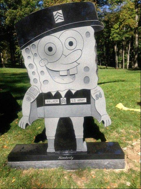 Kimberly Walker's gravestone in the likeness of popular cartoon character SpongeBob SquarePants has been removed, despite getting prior approval ffrom Spring Grove Cemetery in Cincinnati.